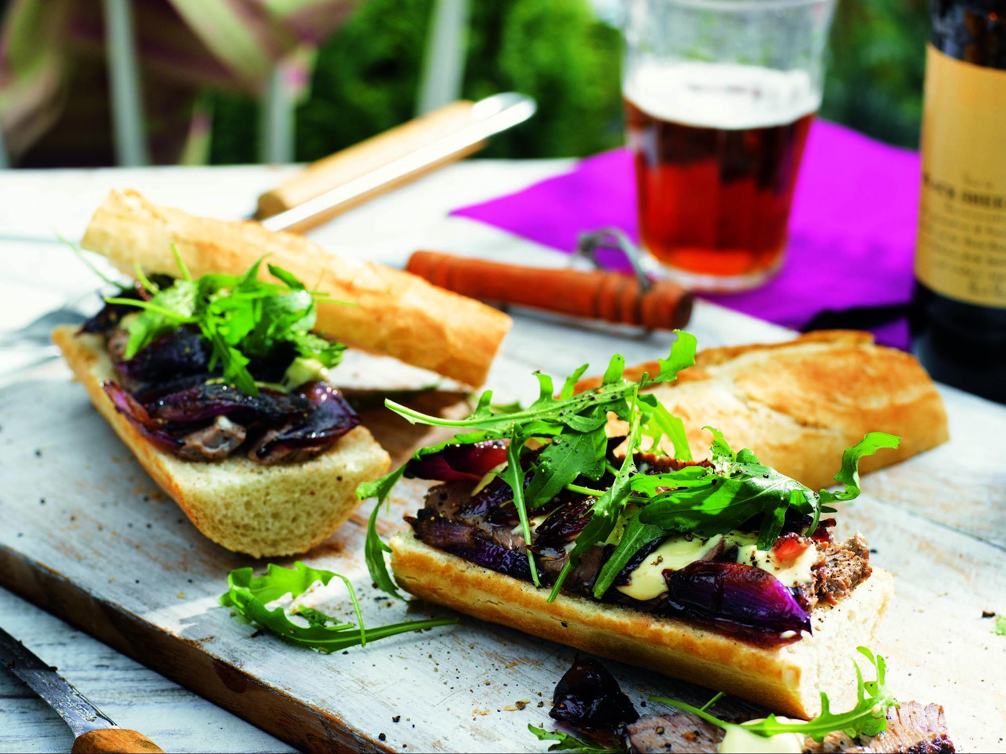 Steak-Baguette