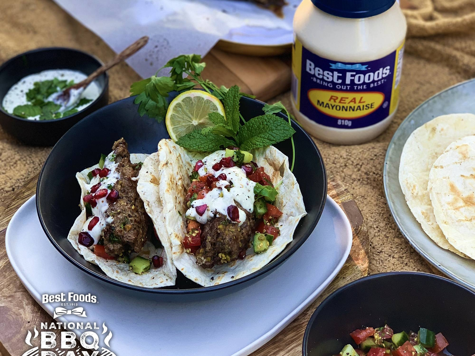 Greek Lamb Tacos with Garlic Whipped Feta