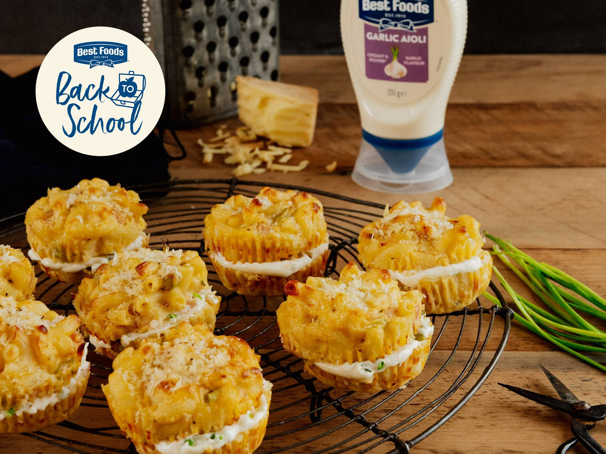 Mac Cheese & Ham Cups | Hellmann's NZ