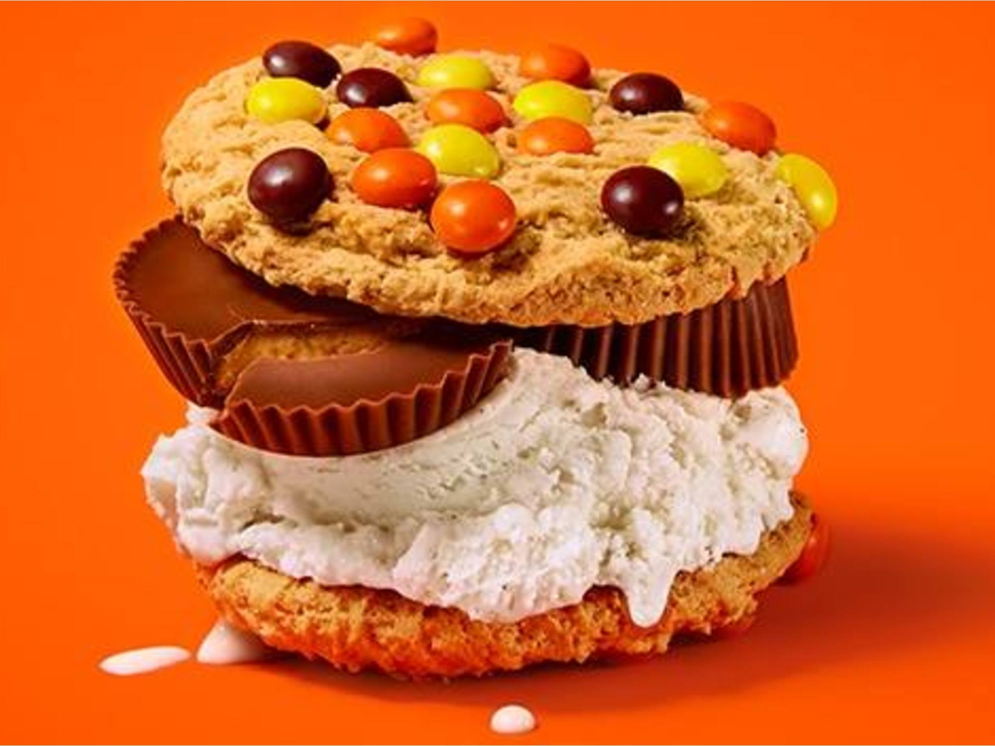 Reese's Peanut Butter Cup Delicious Cookie Sandwiches