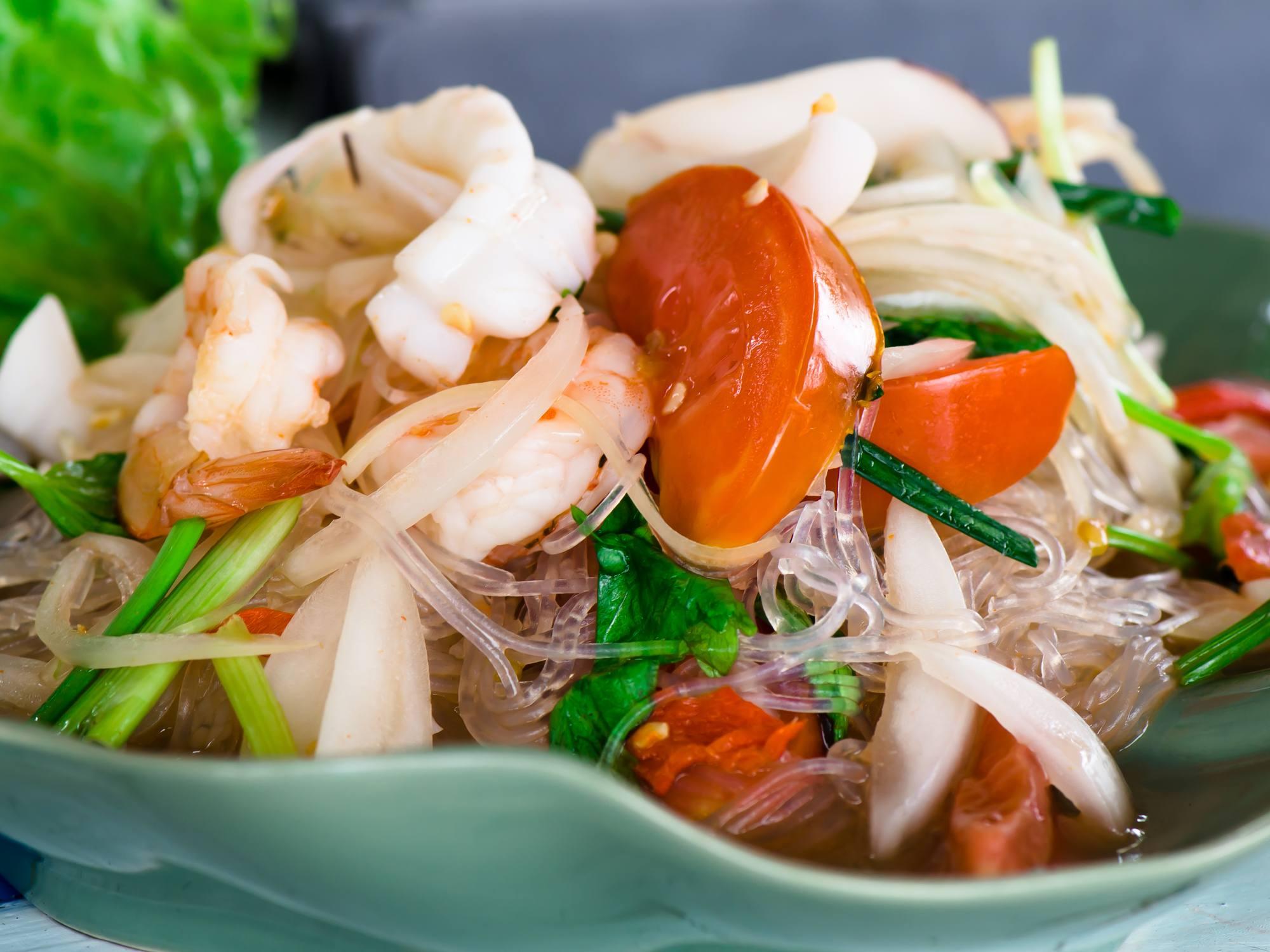စားမြိန်ဖွယ် ပင်လယ်စာ ပဲကြာဆံသုပ်နည်း