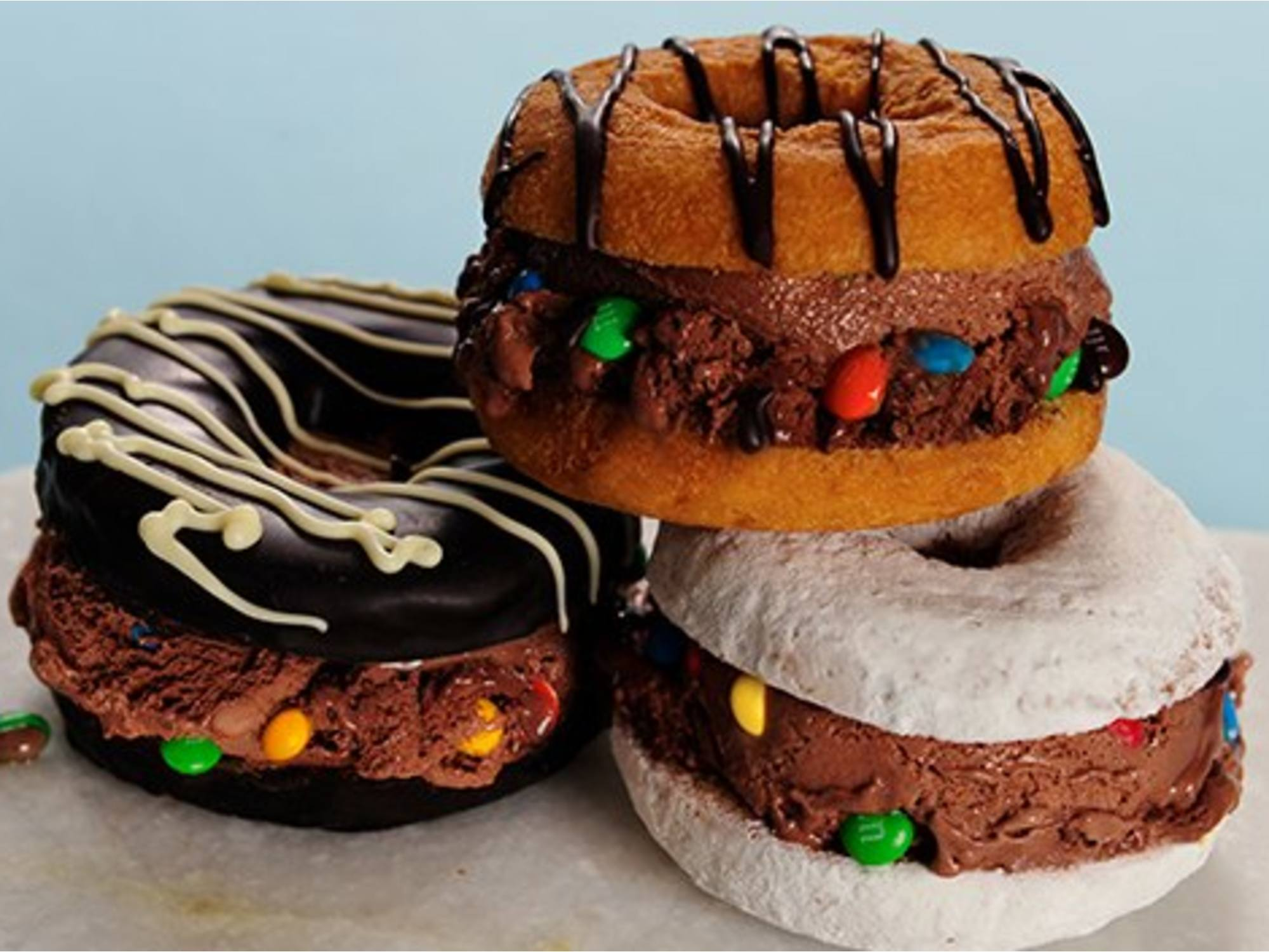 Sándwiches helados tipo rosquilla