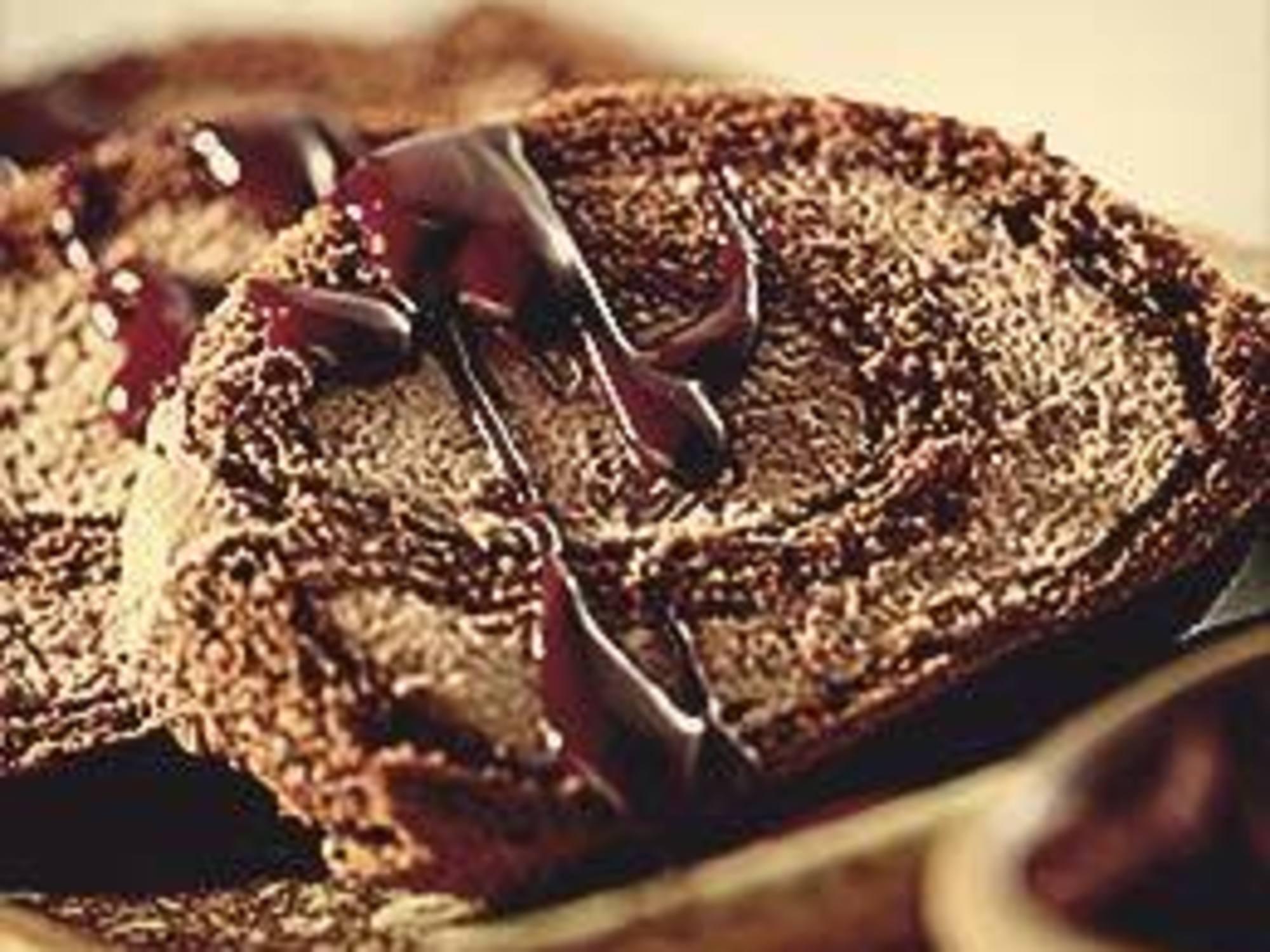 Arrollado con crema de chocolate