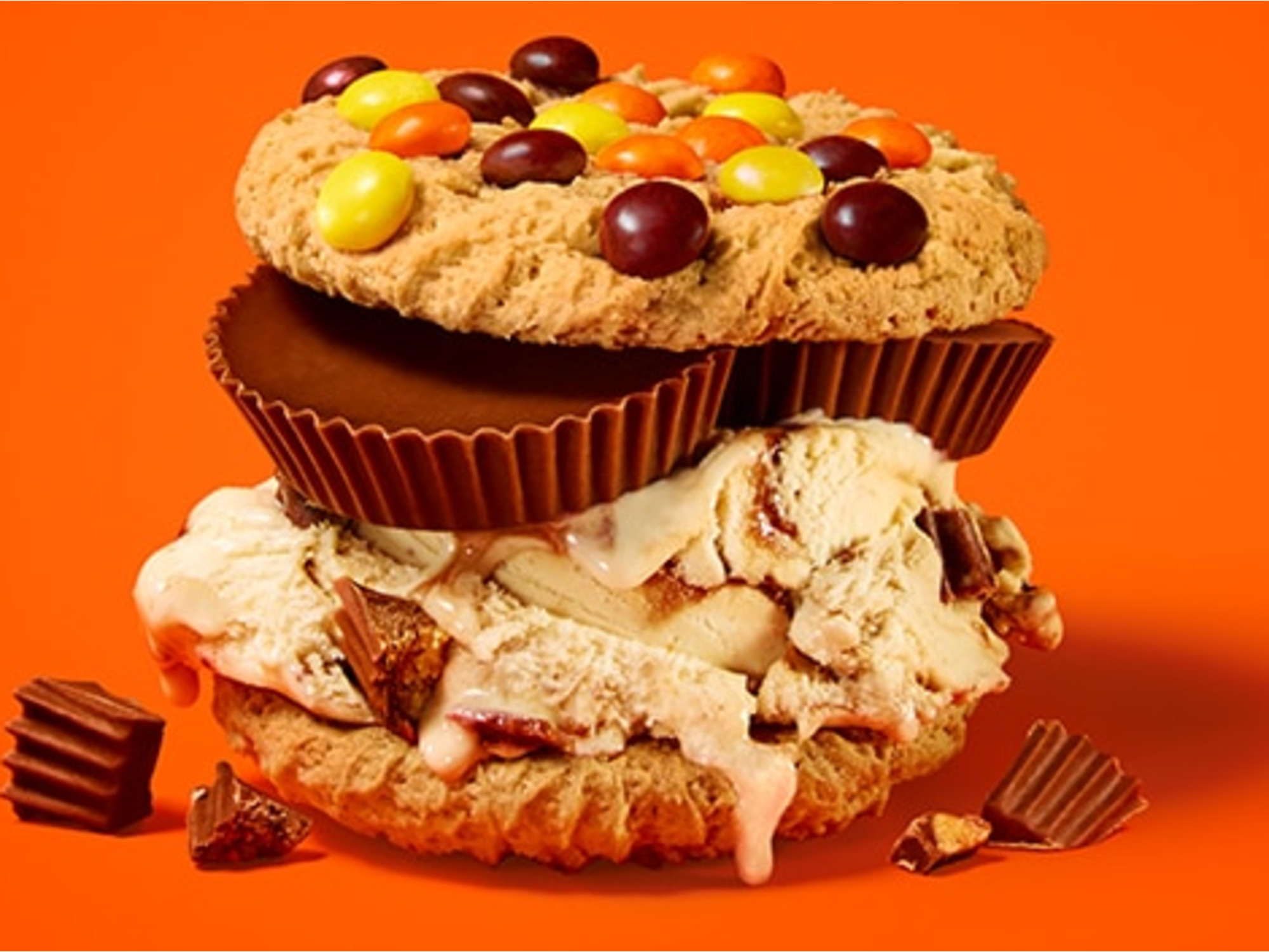 Reese's Peanut Butter Cup Glorious  Cookie Sandwiches