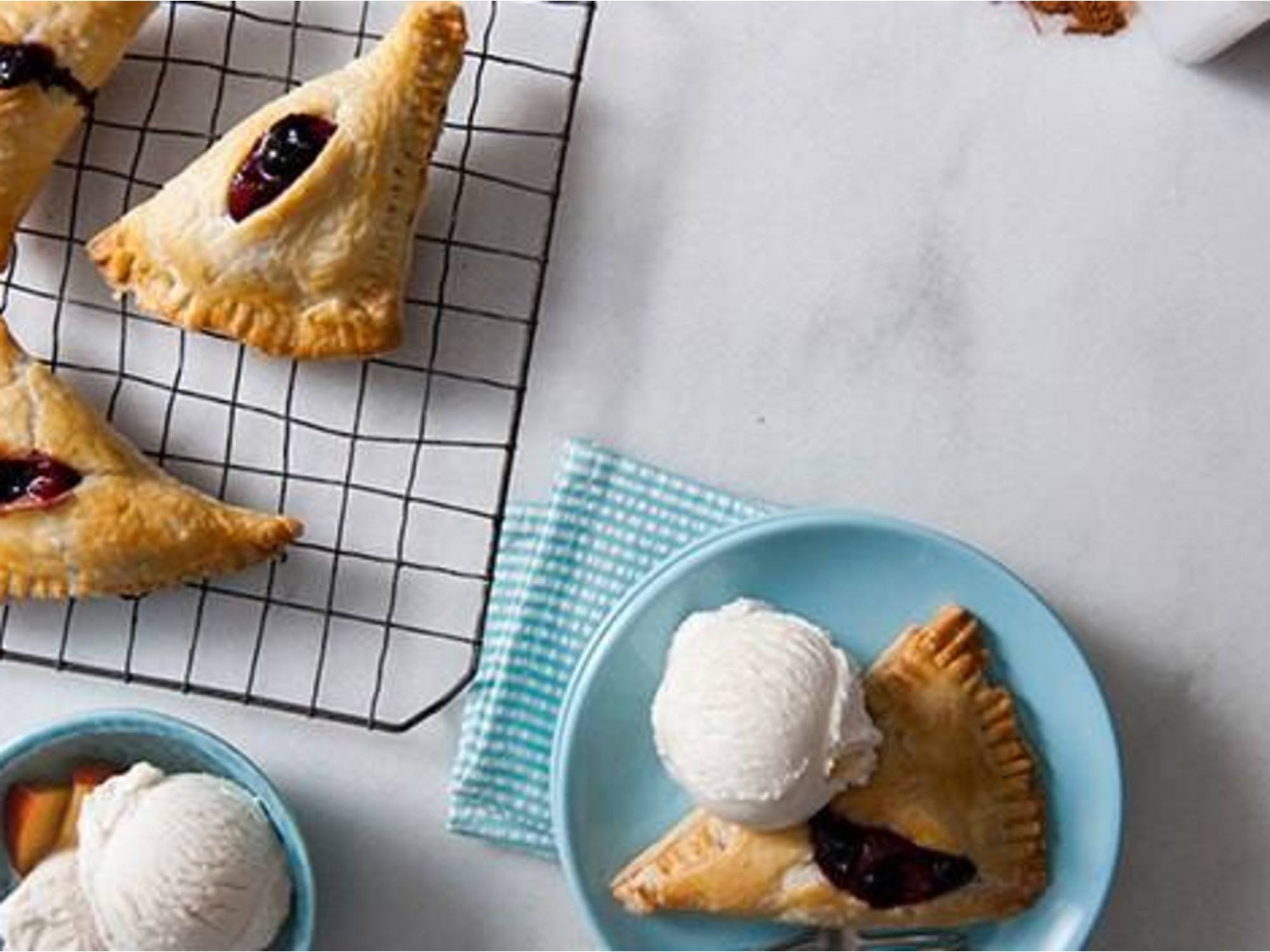 Easy Summer Fruit Turnovers a la Mode Recipe