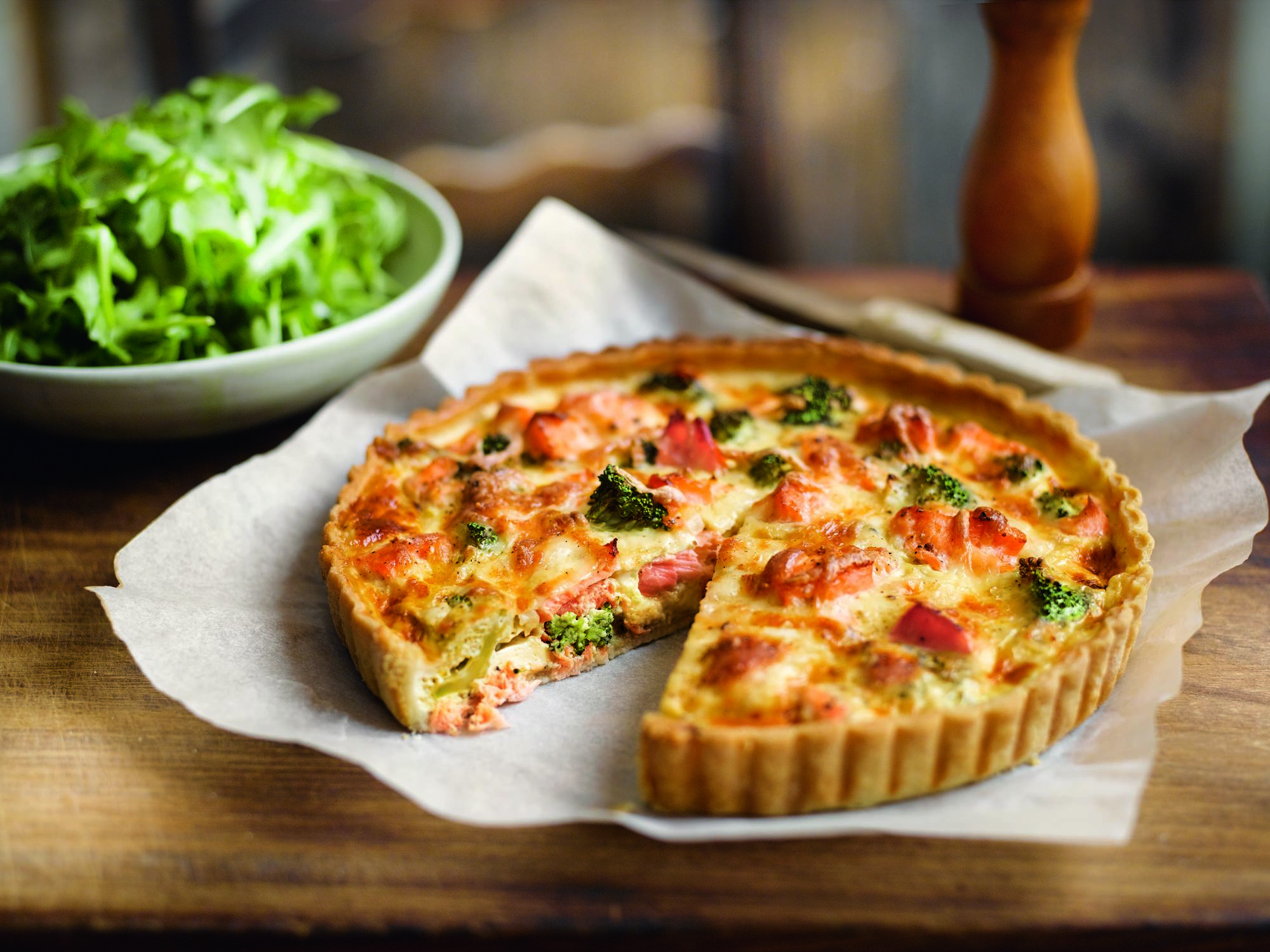 Lachs Brokkoli Quiche