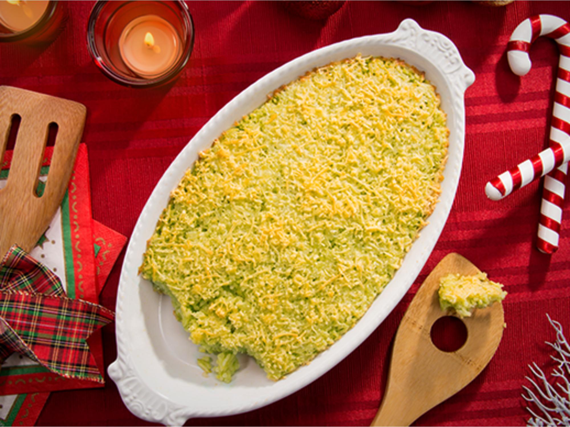 Arroz gratinado verde con mayonesa Fruco