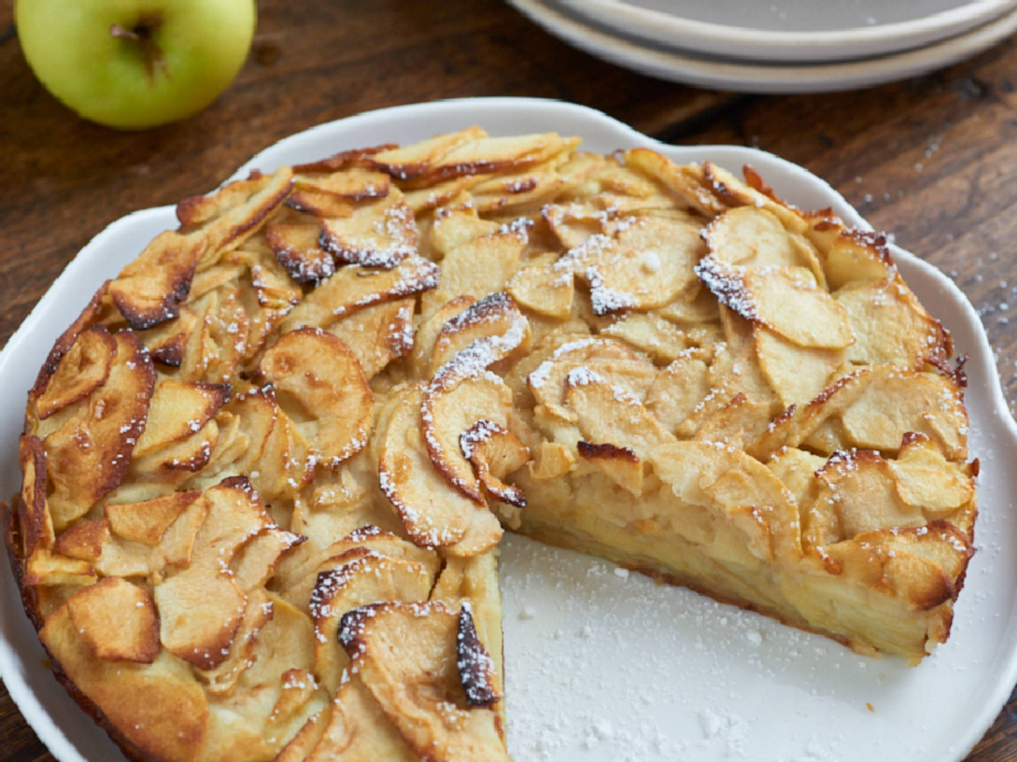 Gâteau aux pommes et au lait d'amande