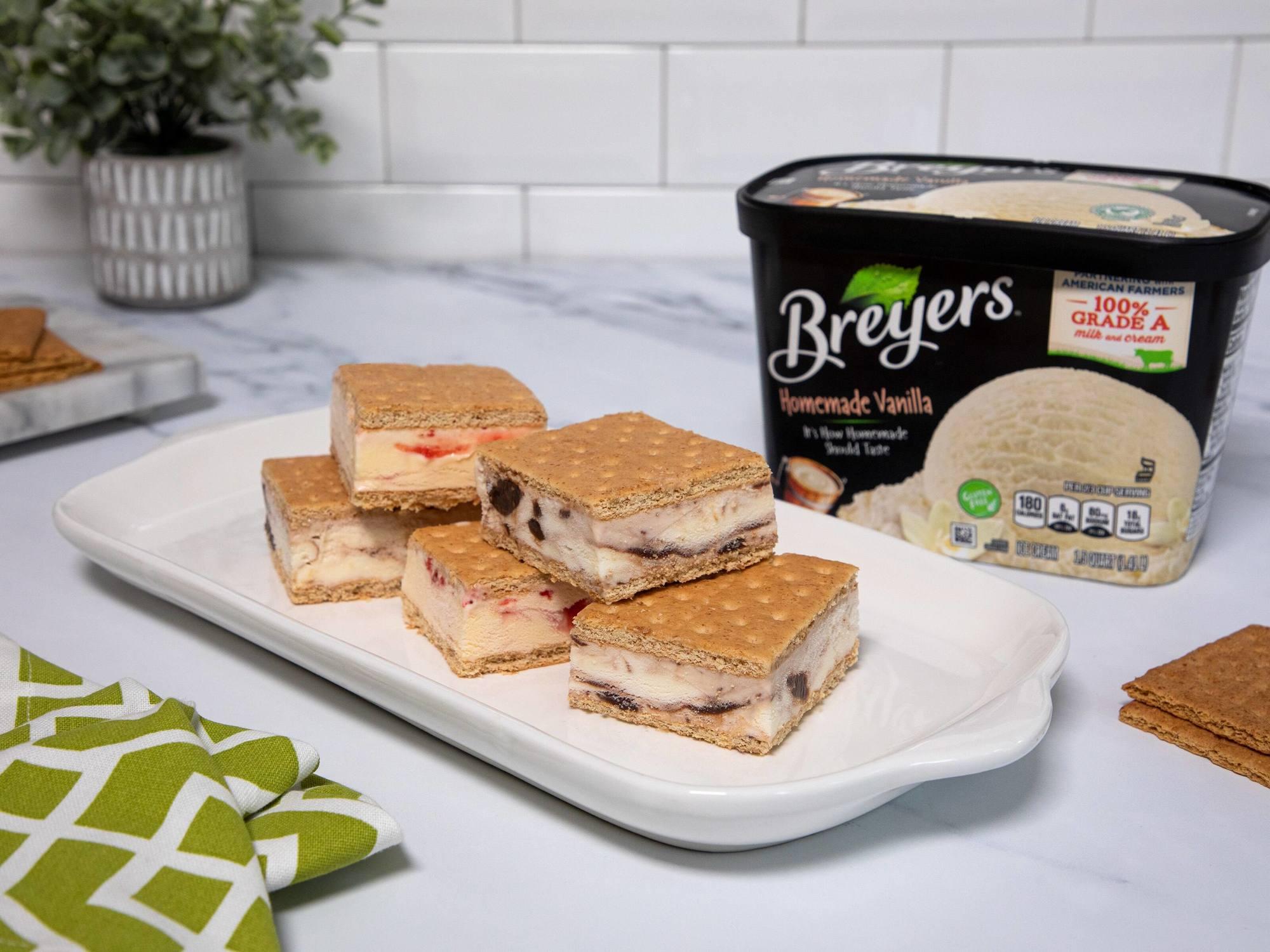 Homemade Graham Cracker Ice Cream Sandwiches