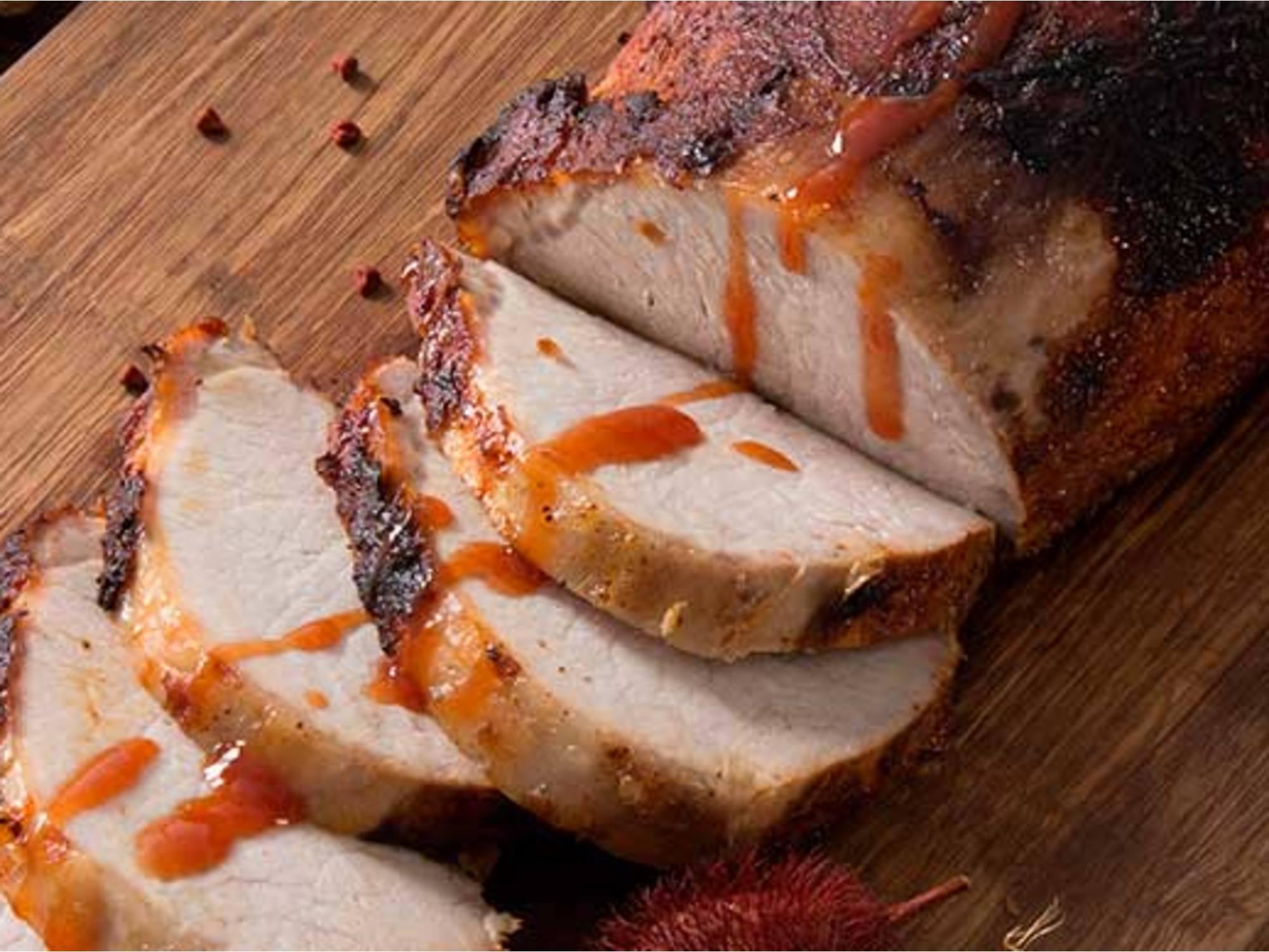 Lomo de cerdo en Salsa de Guayaba con Salsa de Tomate Fruco