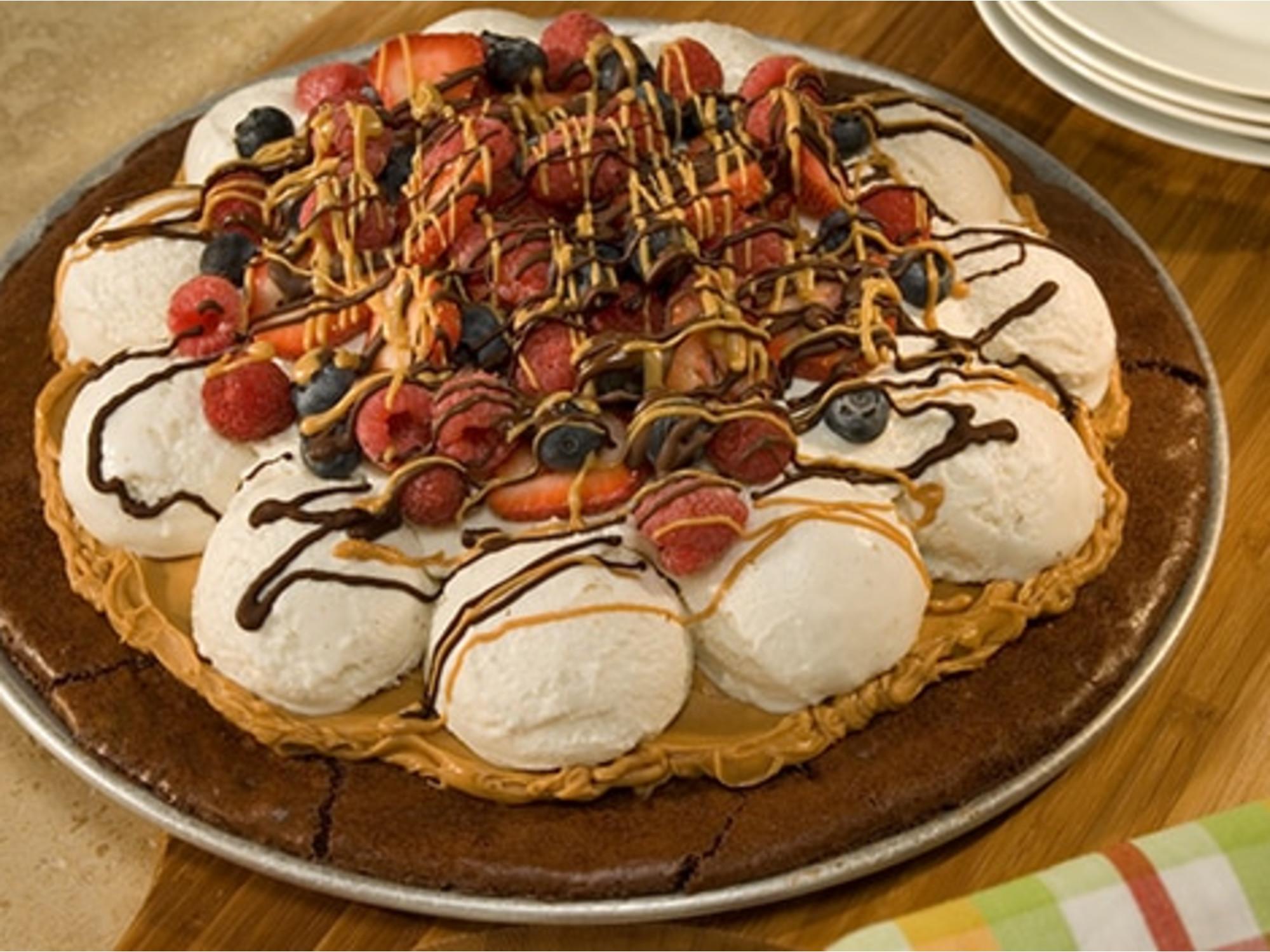 Brownie Ice Cream Pizza
