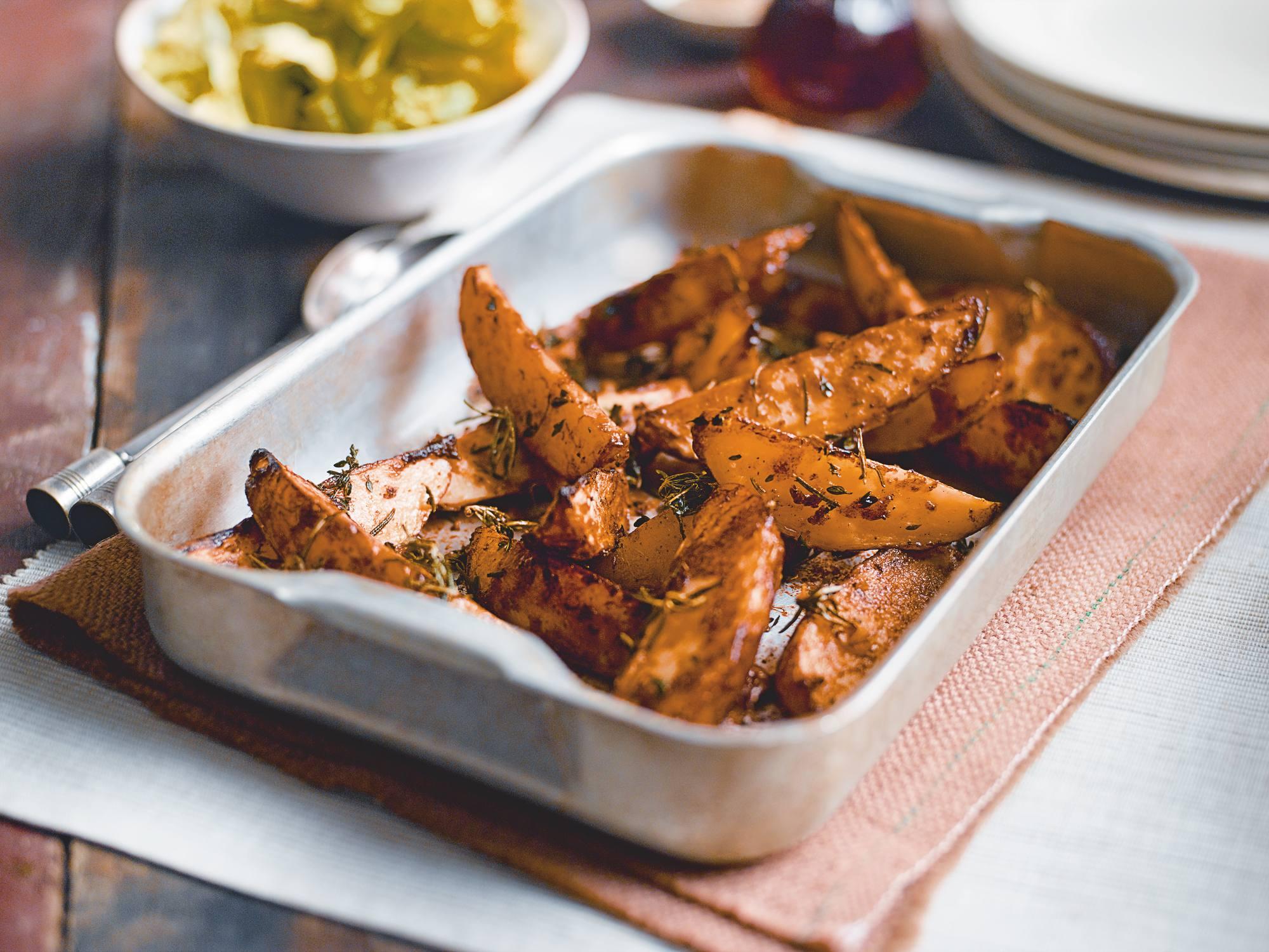 Gebakken aardappelpartjes uit de oven