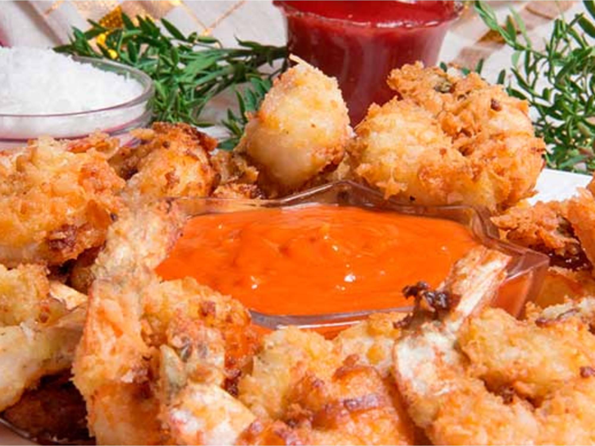 Langostinos Cocudos con Salsa de Tomate Fruco