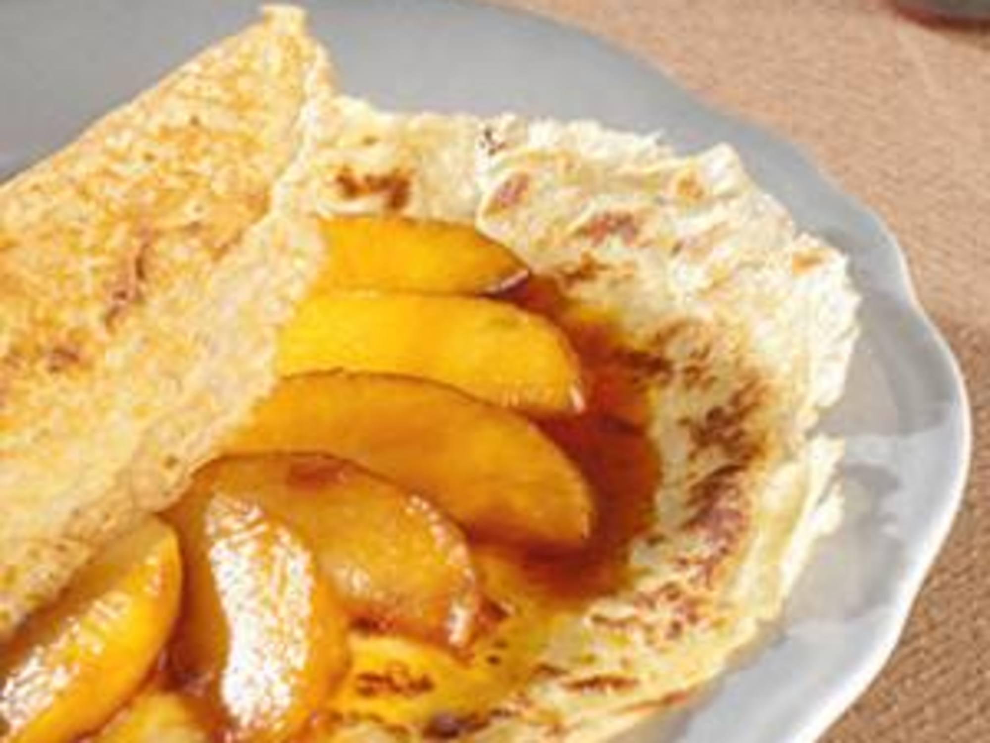 Crêpes aux pommes et calvados sans gluten