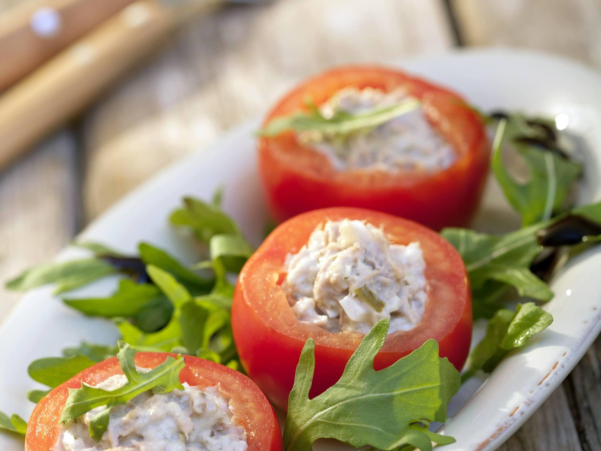 Gefüllte Tomaten mit Quinoa