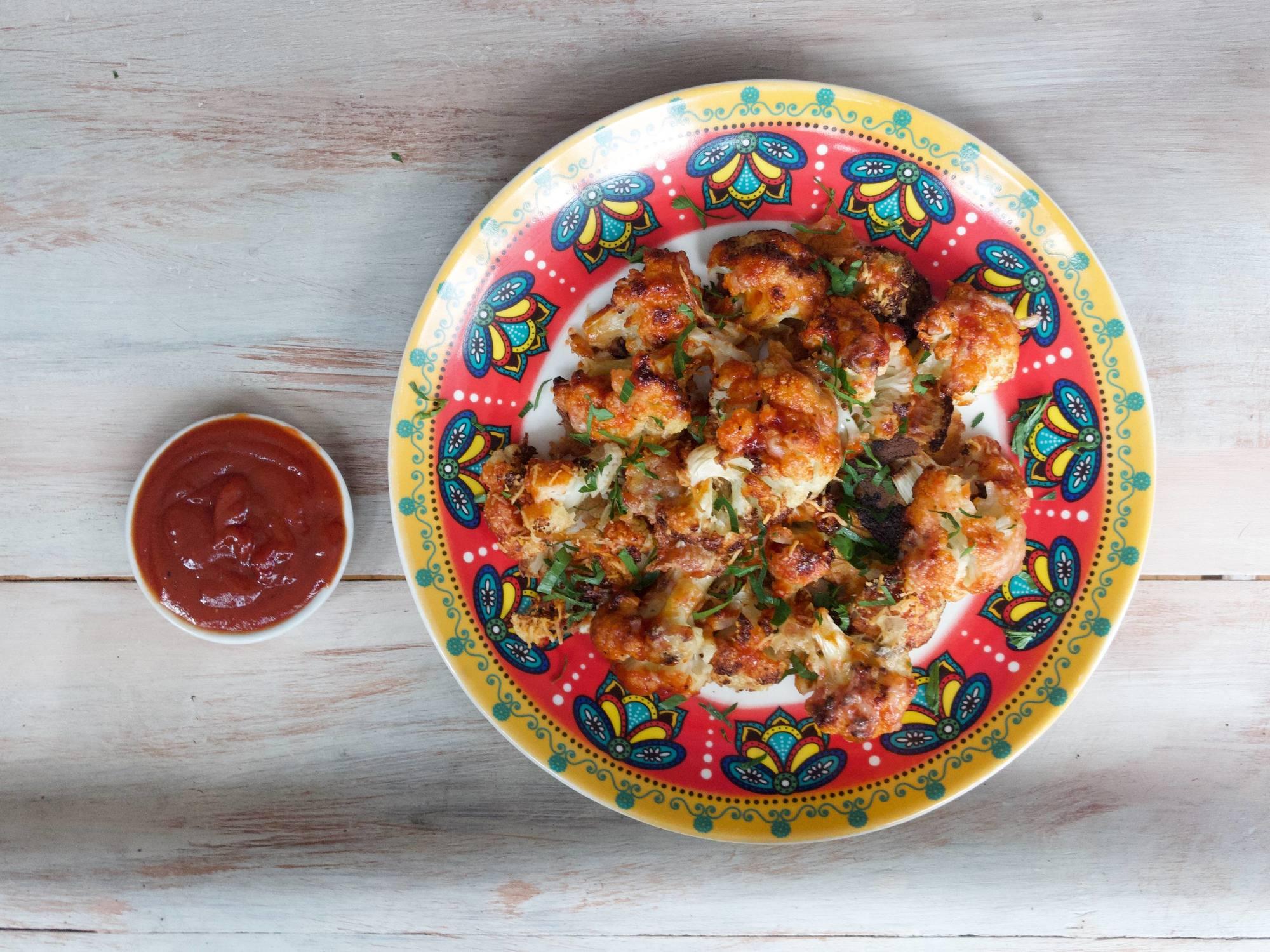 Alitas de Coliflor en salsa Sweet Fruco Picante