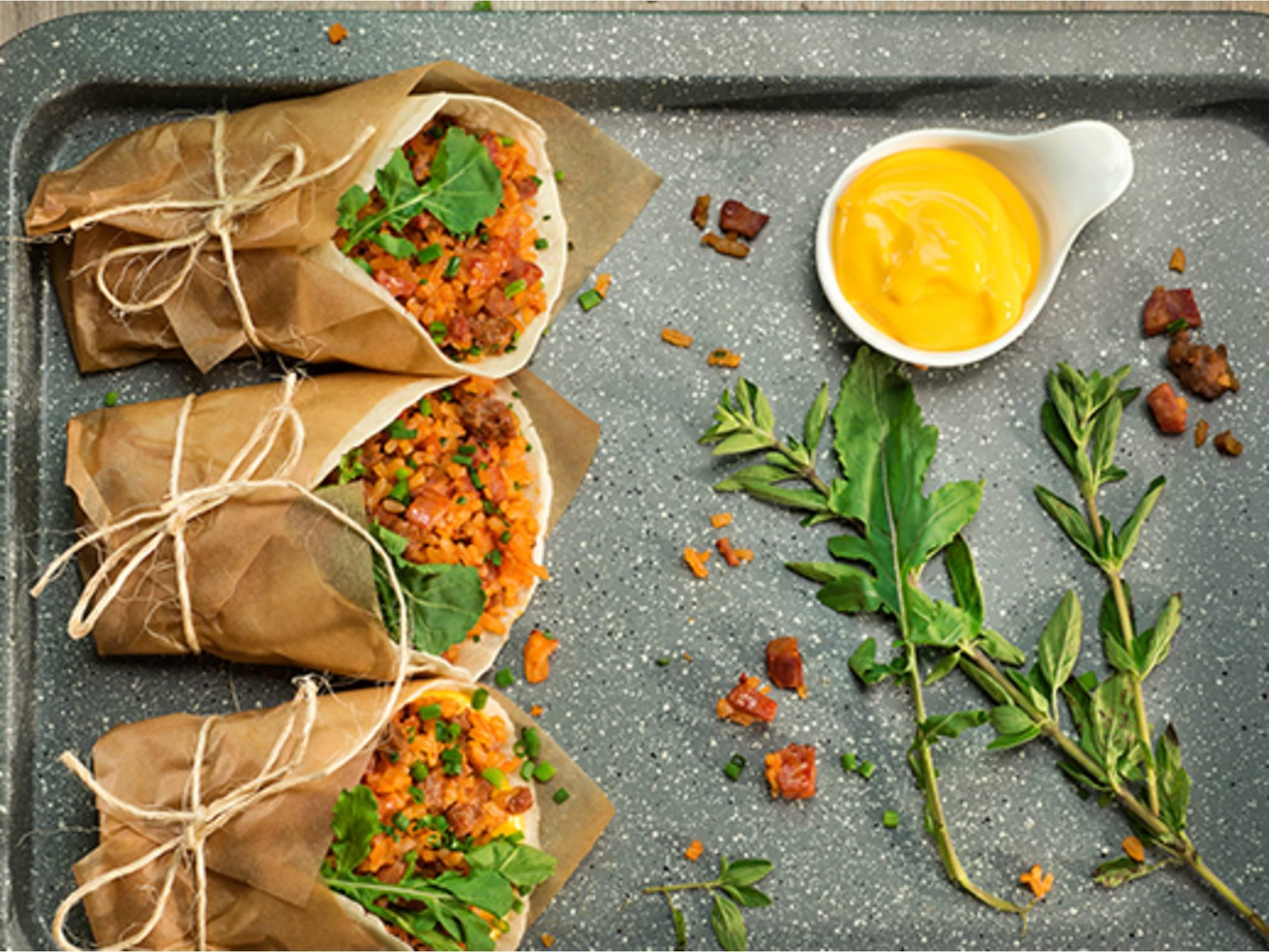 Wraps con salsa de tomate Fruco