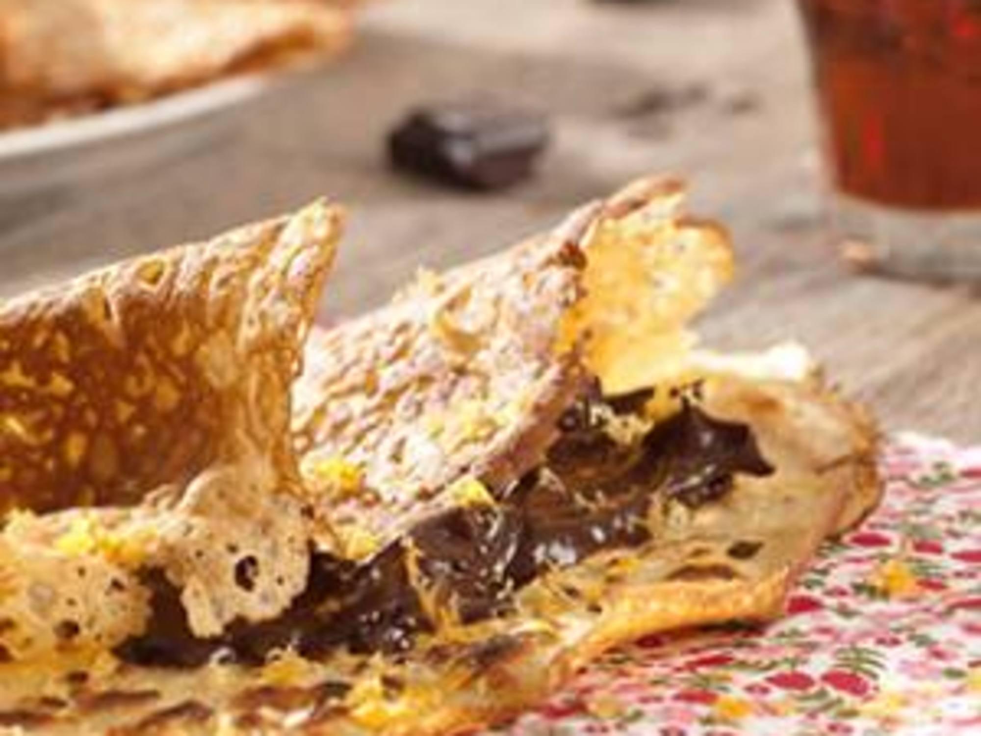Crêpes sauce chocolat et grand marnier sans gluten