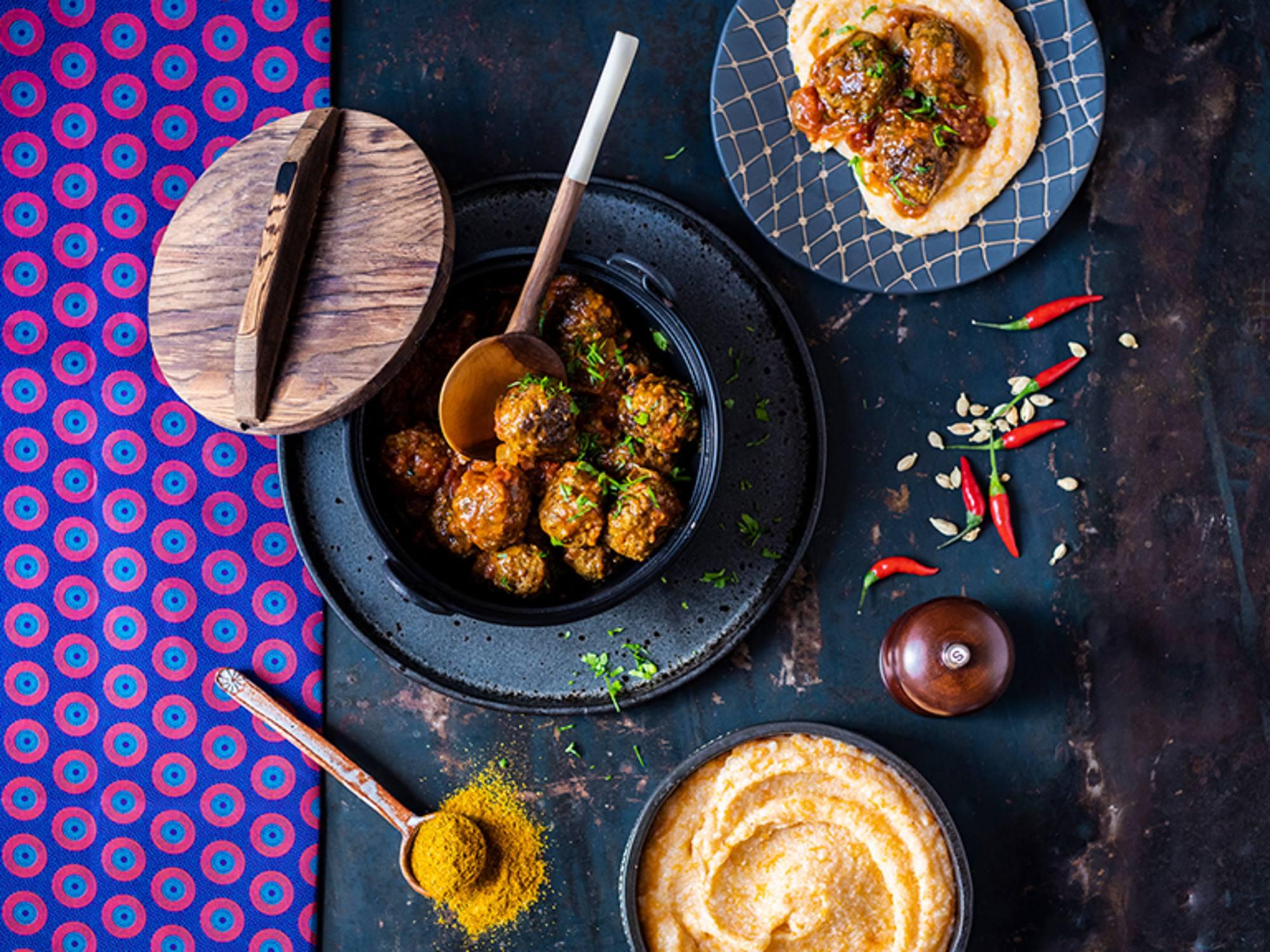 Boerewors Meatball Stew with Butternut Isijingi