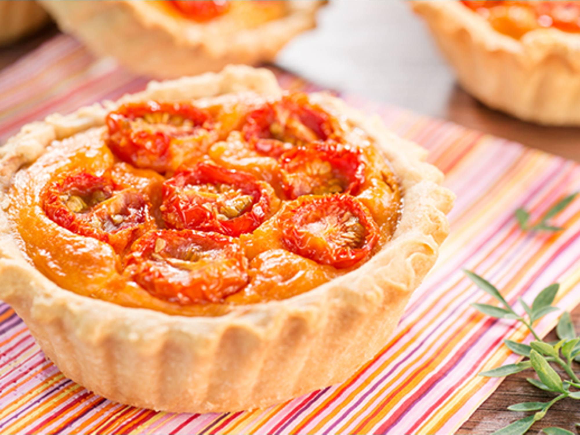 Tartaleta con salsa de tomate Fruco