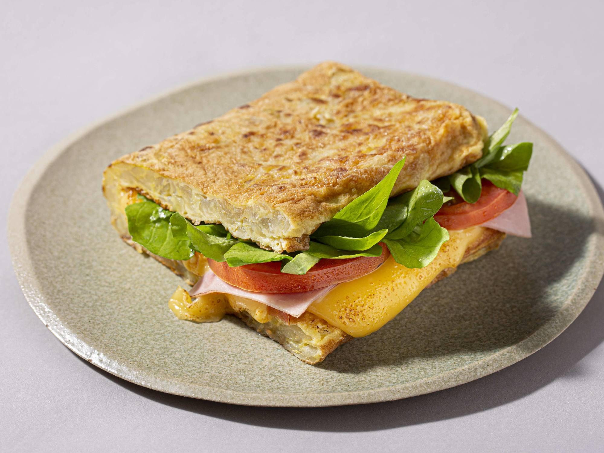 Sandwich Omelete de Papa Sin TACC