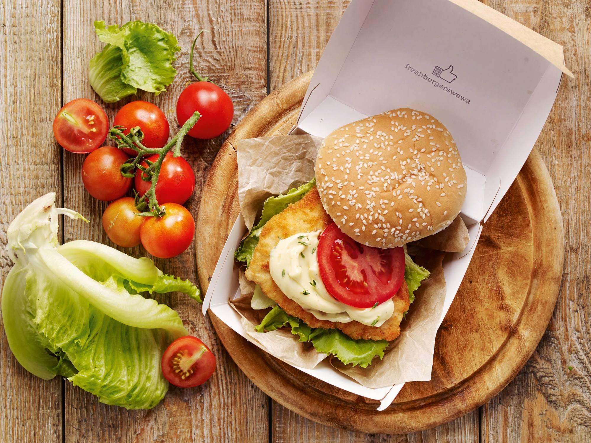 Knuspriger Hühner-Burger