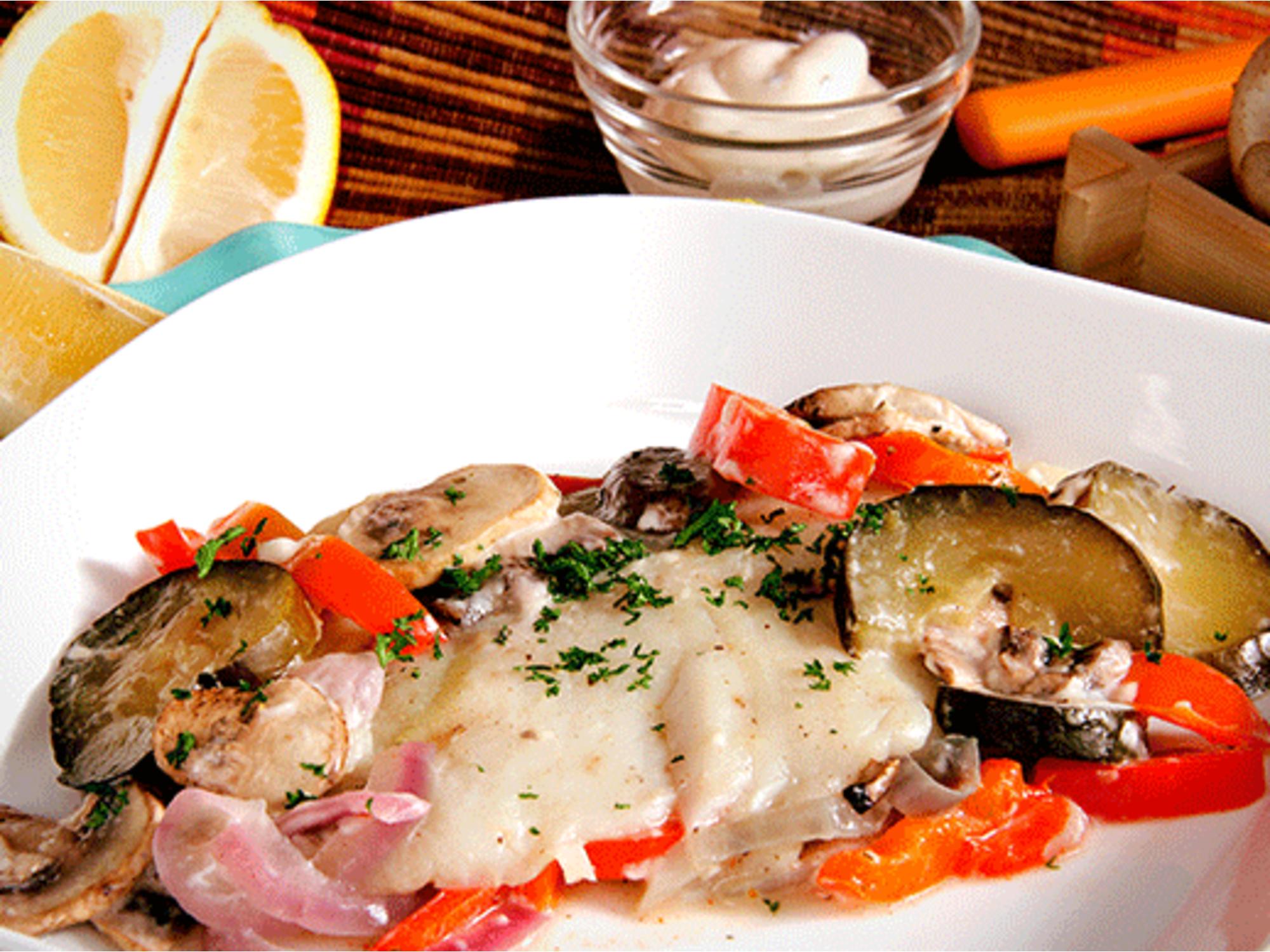 Filete de pescado blanco en salsa de tomate Fruco