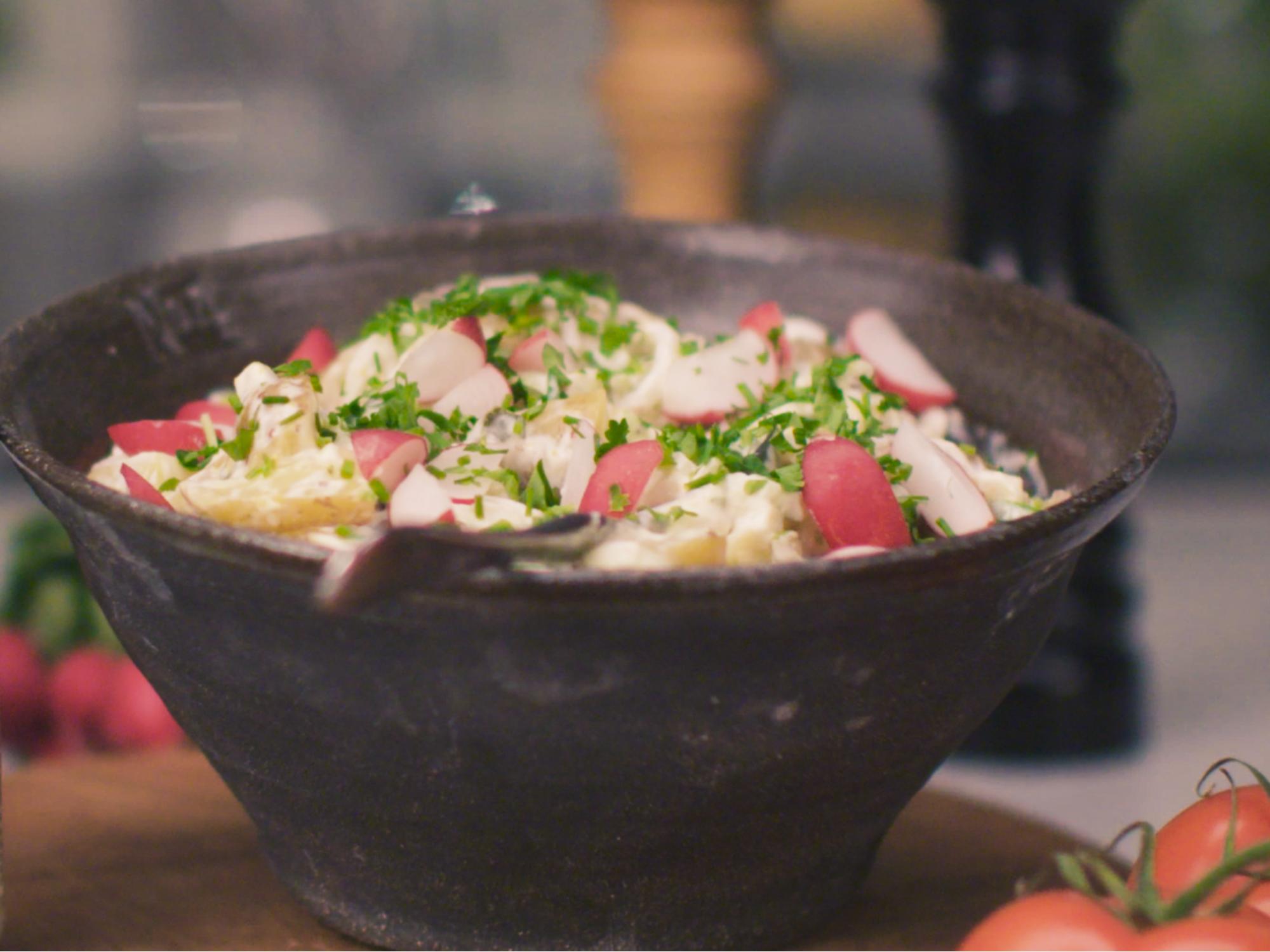 Vegansk kartoffelsalat | Hellmann's DK