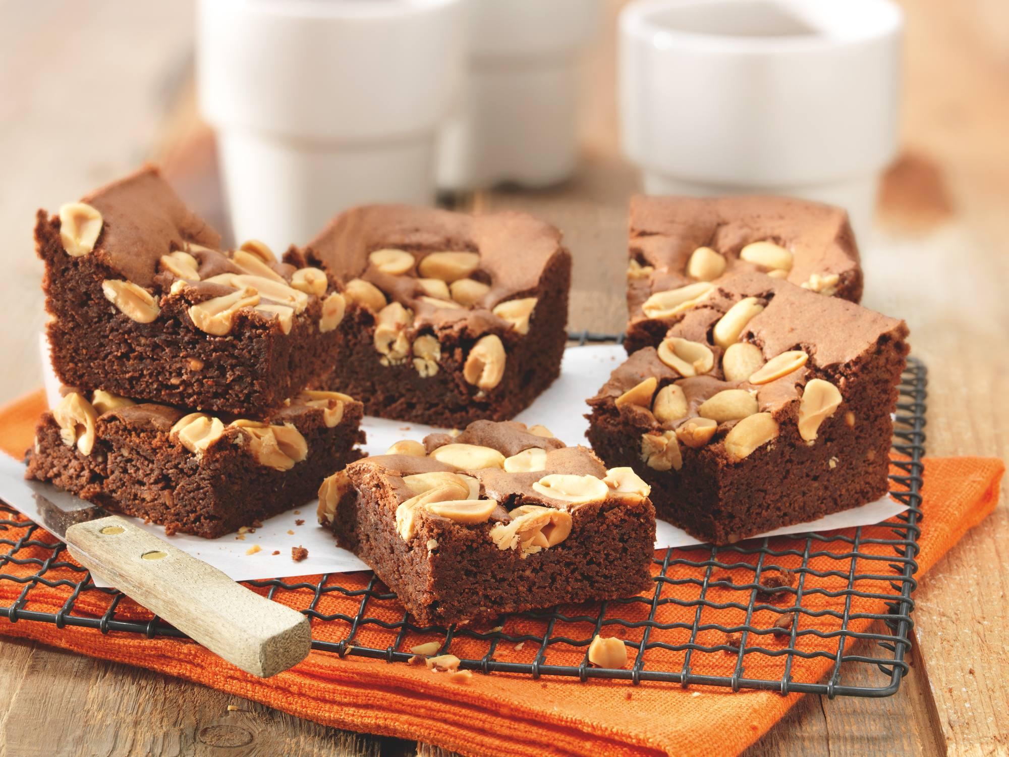 Pindakaas-brownies
