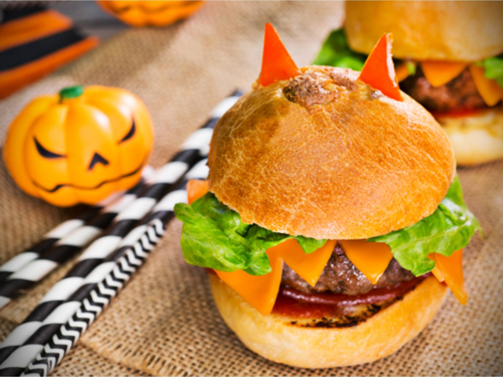 Hamburguesas con Salsa de Tomate Fruco Halloween