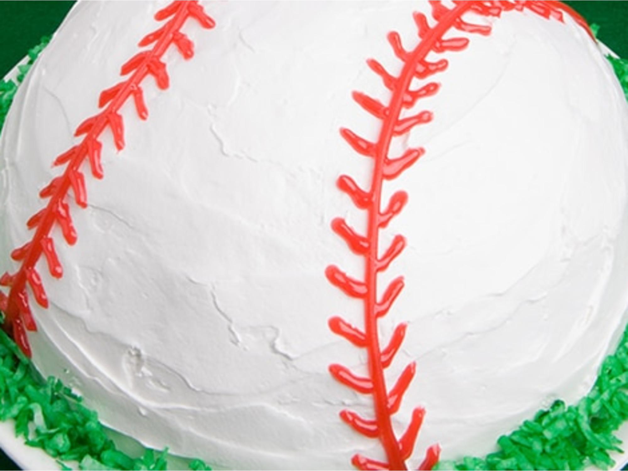 Baseball Ice Cream Cake