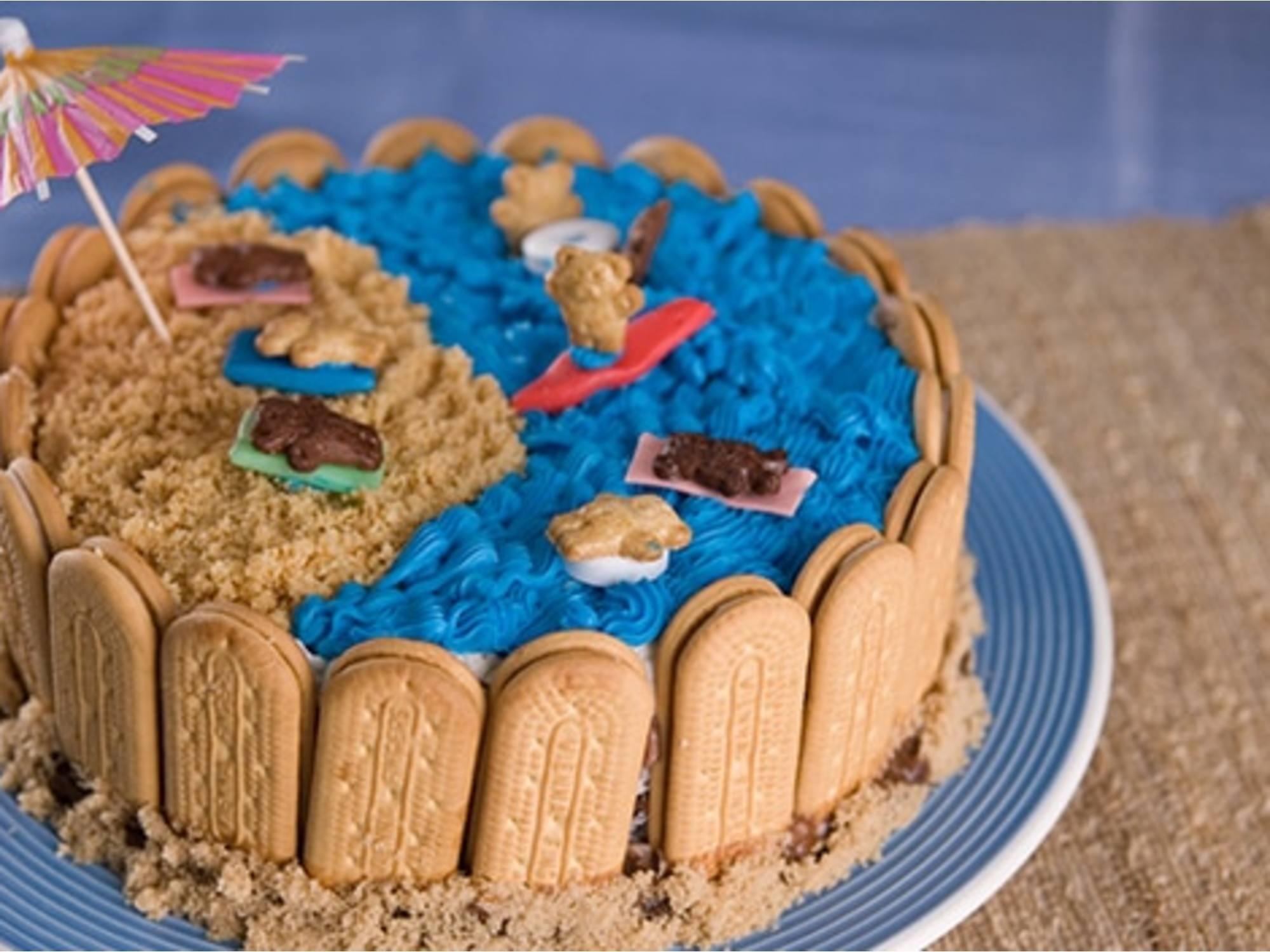 Gâteau de Crème Glacée « Journée à la Plage »