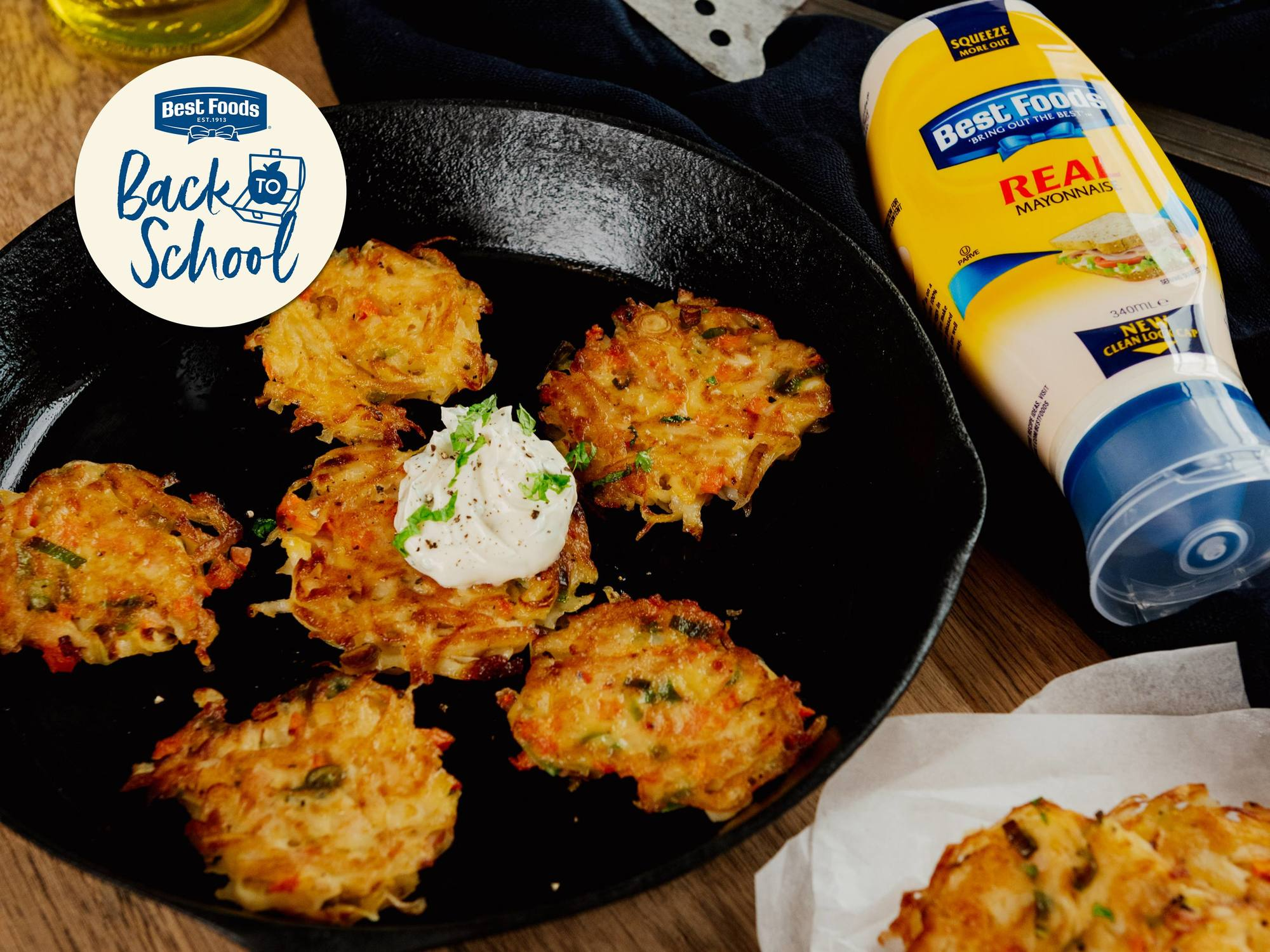 Potato, Carrot & Spring Onion Rosti | Hellmann's NZ
