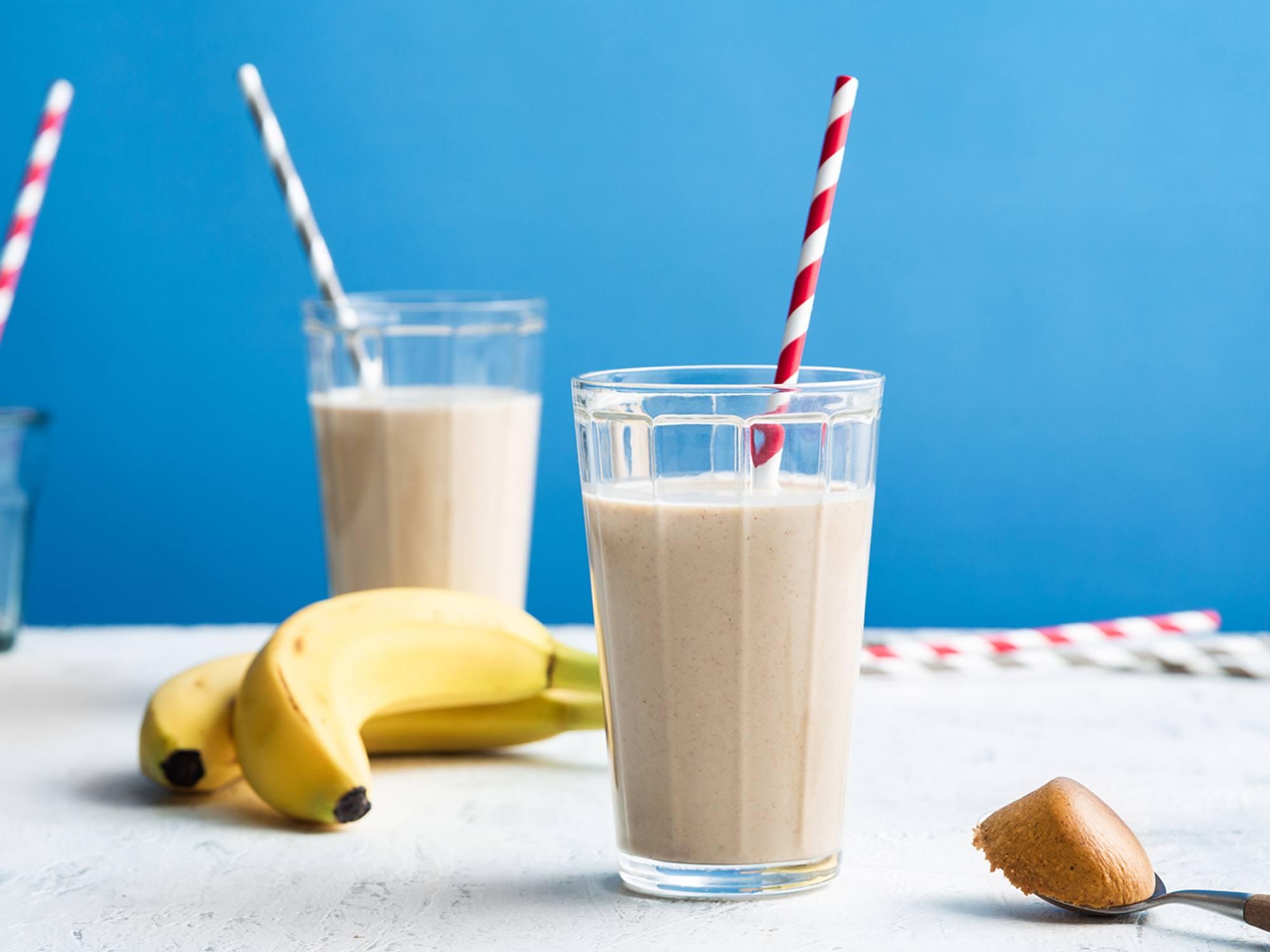 Bananen-pindasmoothie