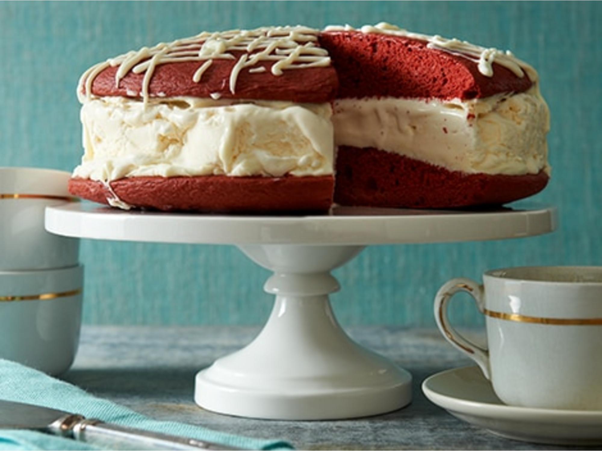 Red Velvet Whoopie Pie Ice Cream Cake