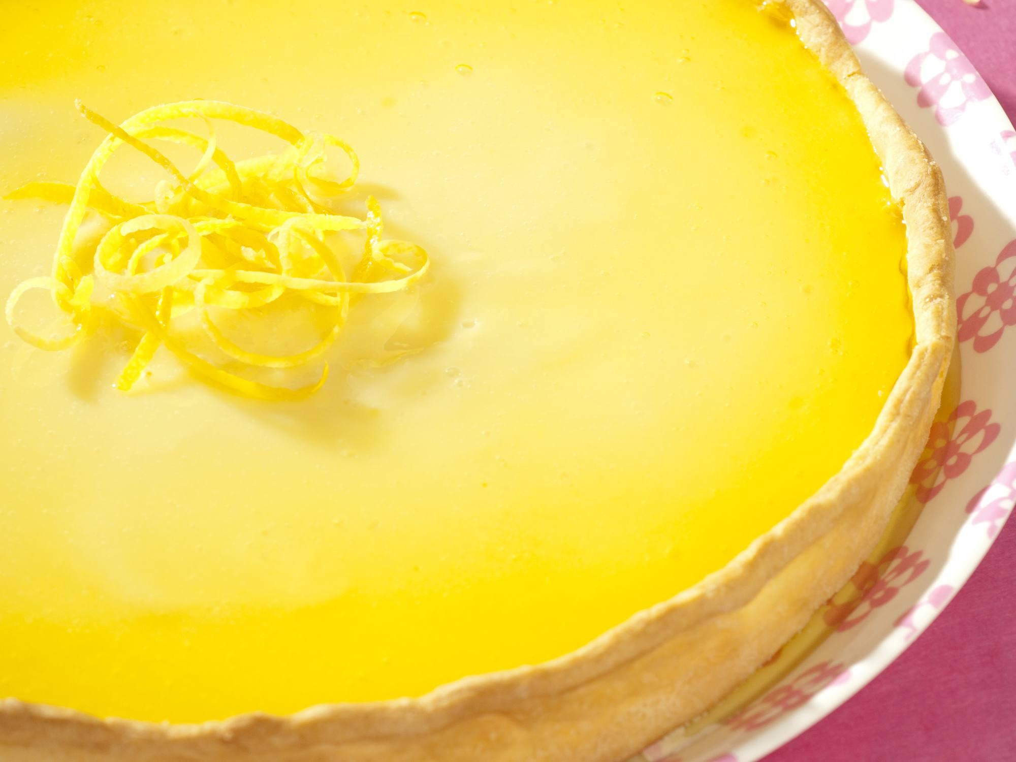 Tarte au citron et aux framboises