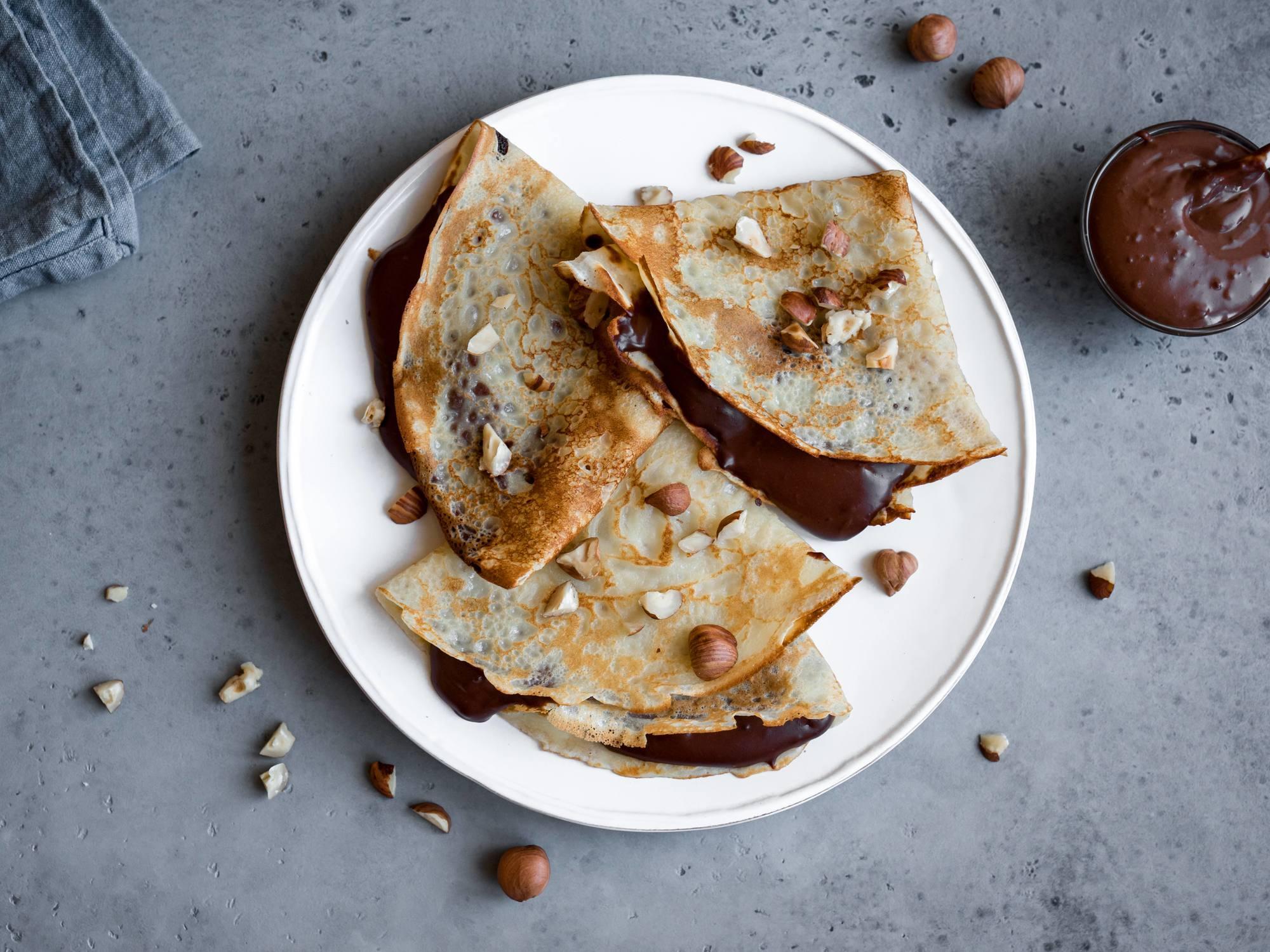 Crêpes sauce chococo sans gluten