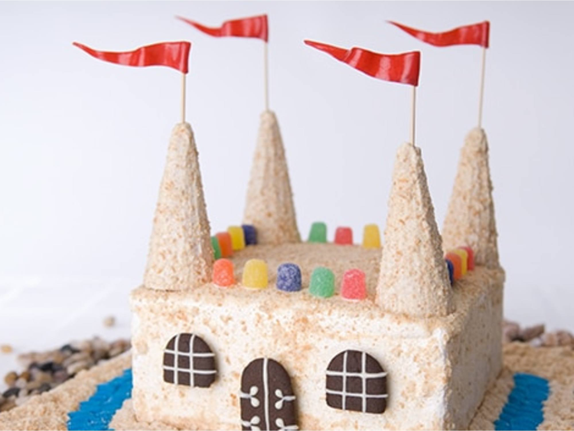 Sand Castle Ice Cream Cake