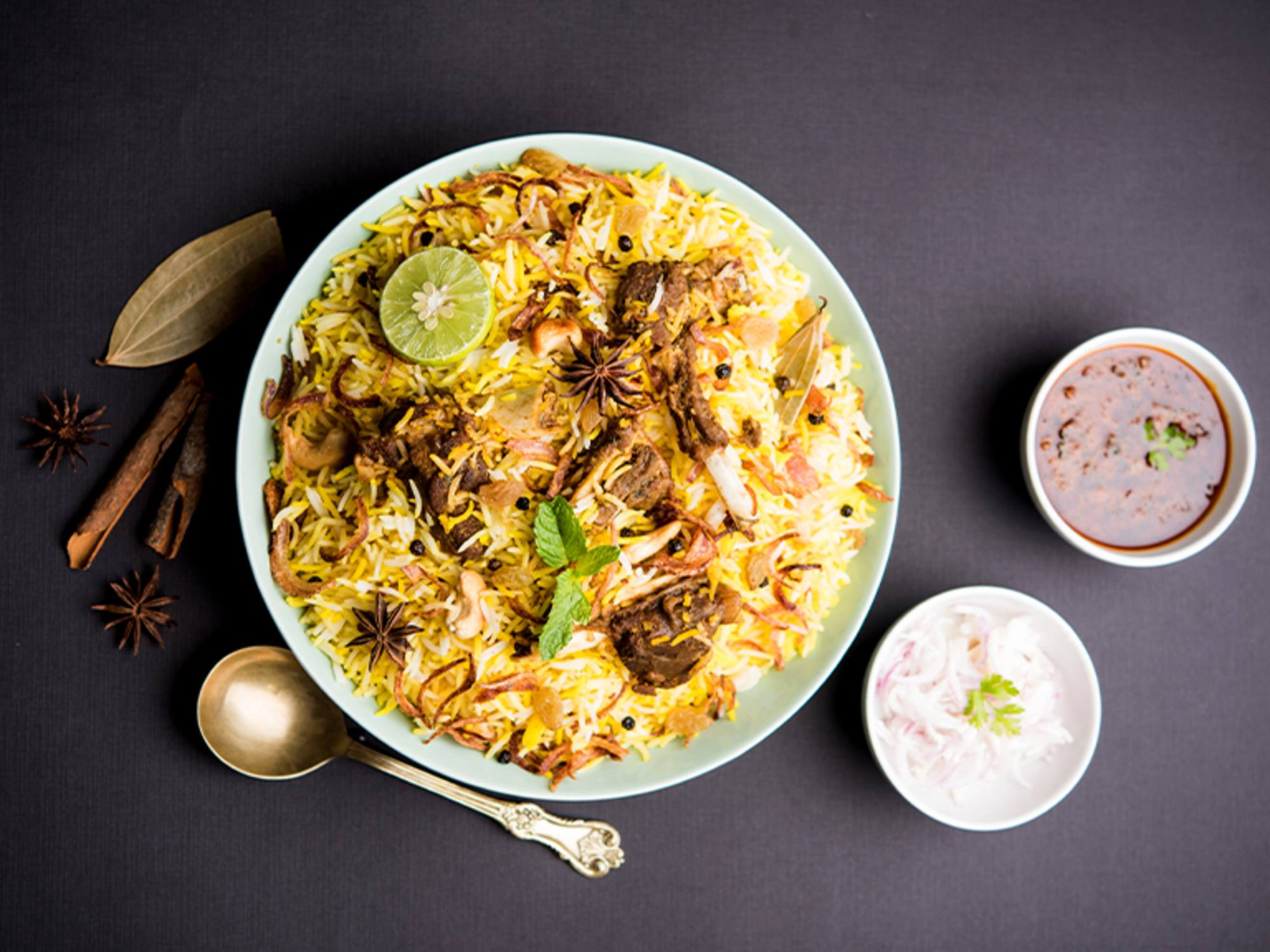 Spicy Mutton Breyani