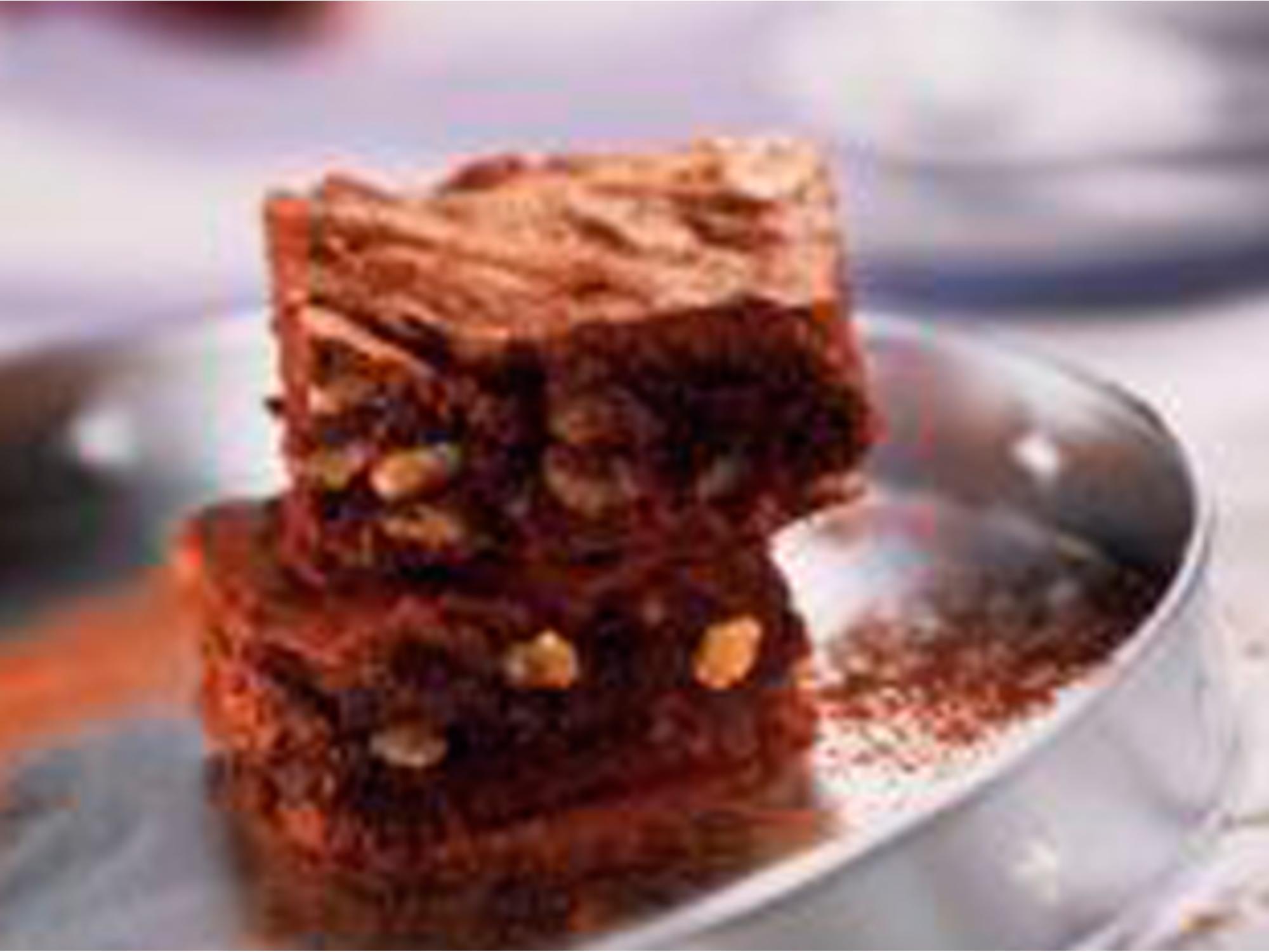 Brownies aux raisins et aux noix