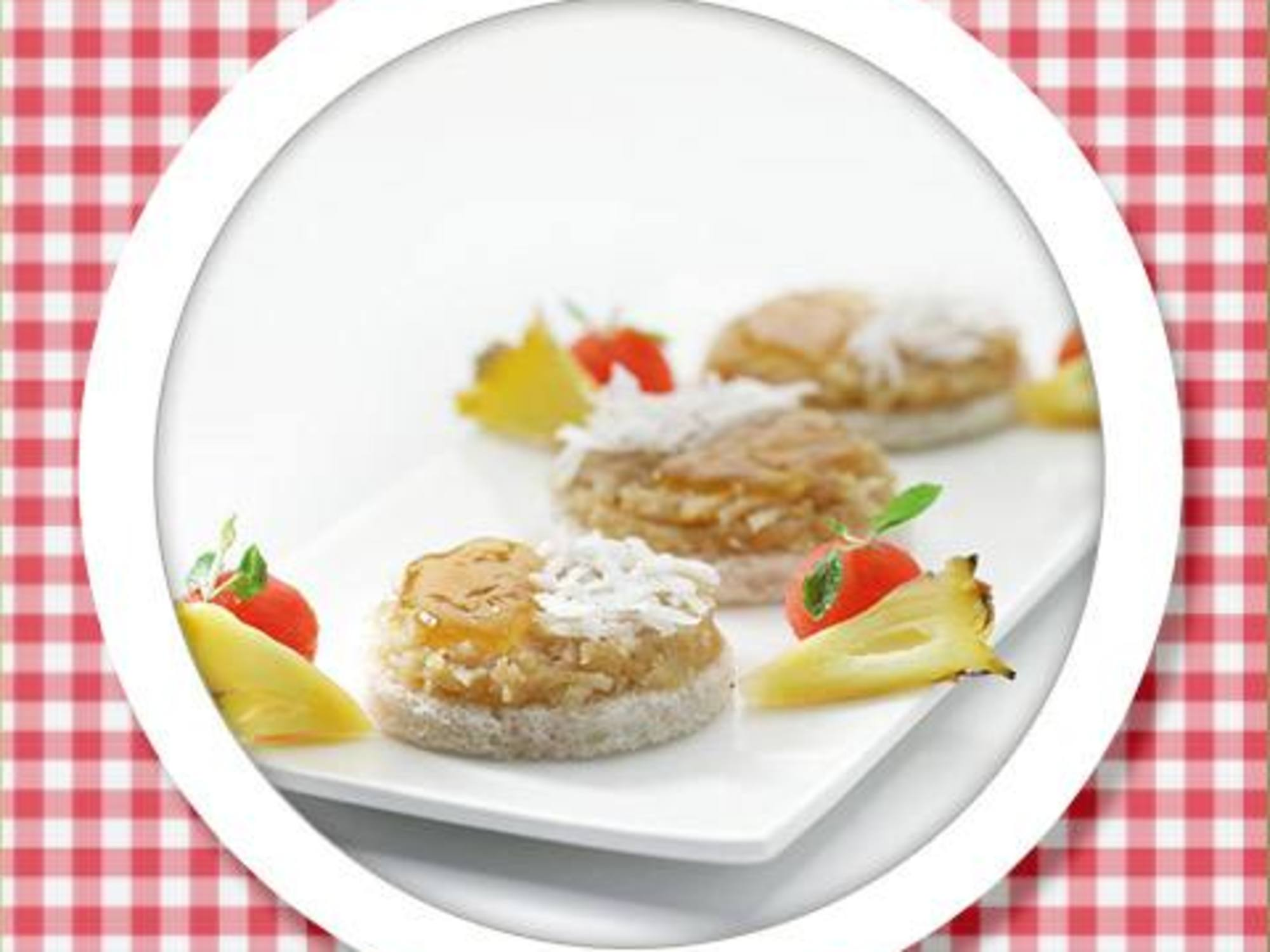 Recipe of Coconut & Jam On Bread