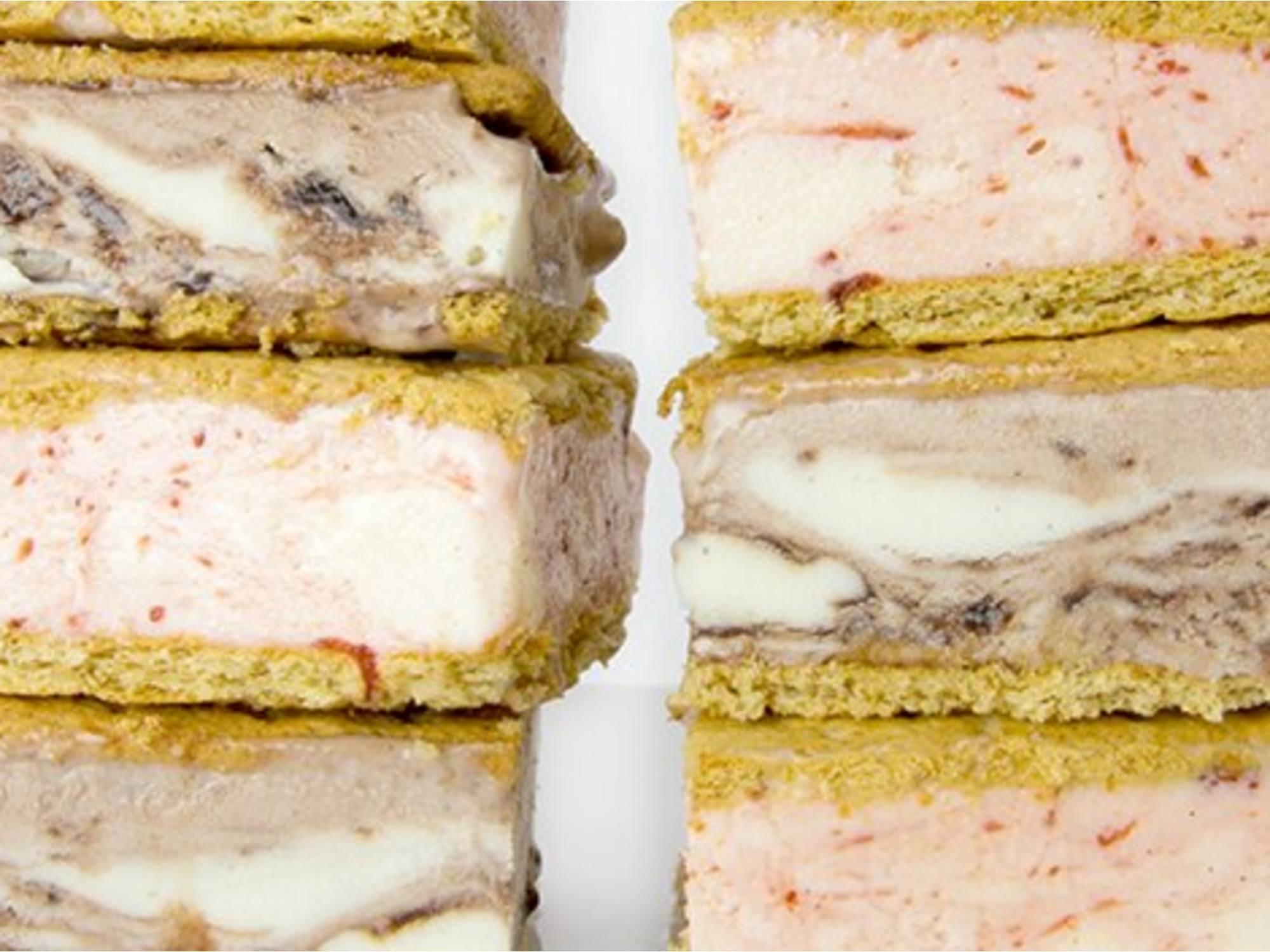 Sándwich helado de galletas Graham