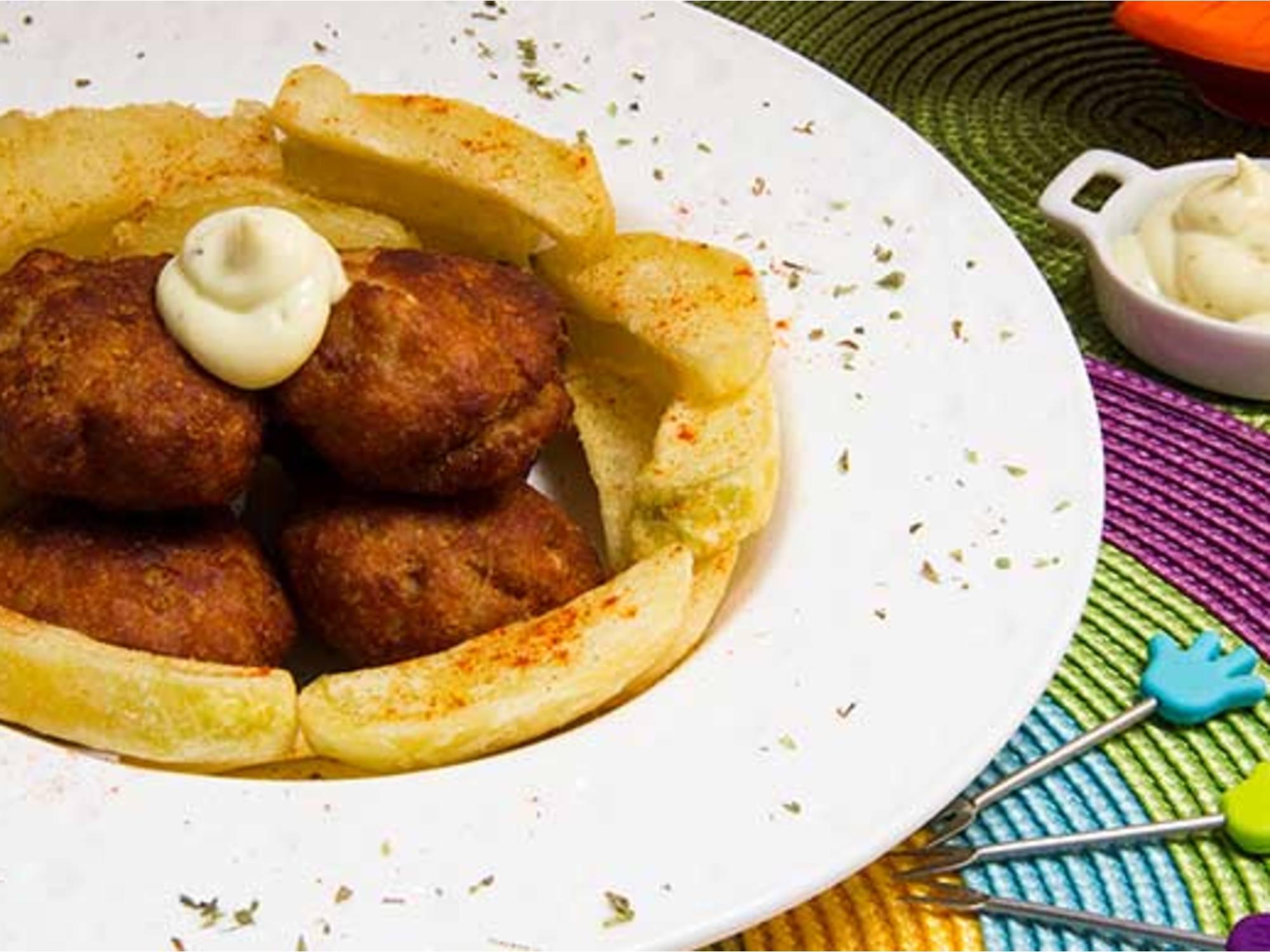 Nuggets de Cerdo con Mayo Mostaza Fruco