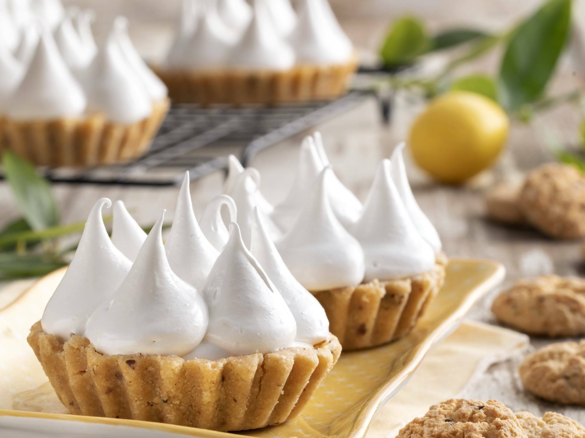 Lemon pie con cookies sabor vainilla
