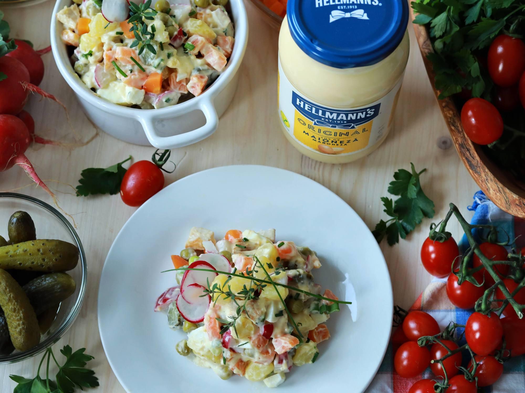Salata Olivier cu maioneza
