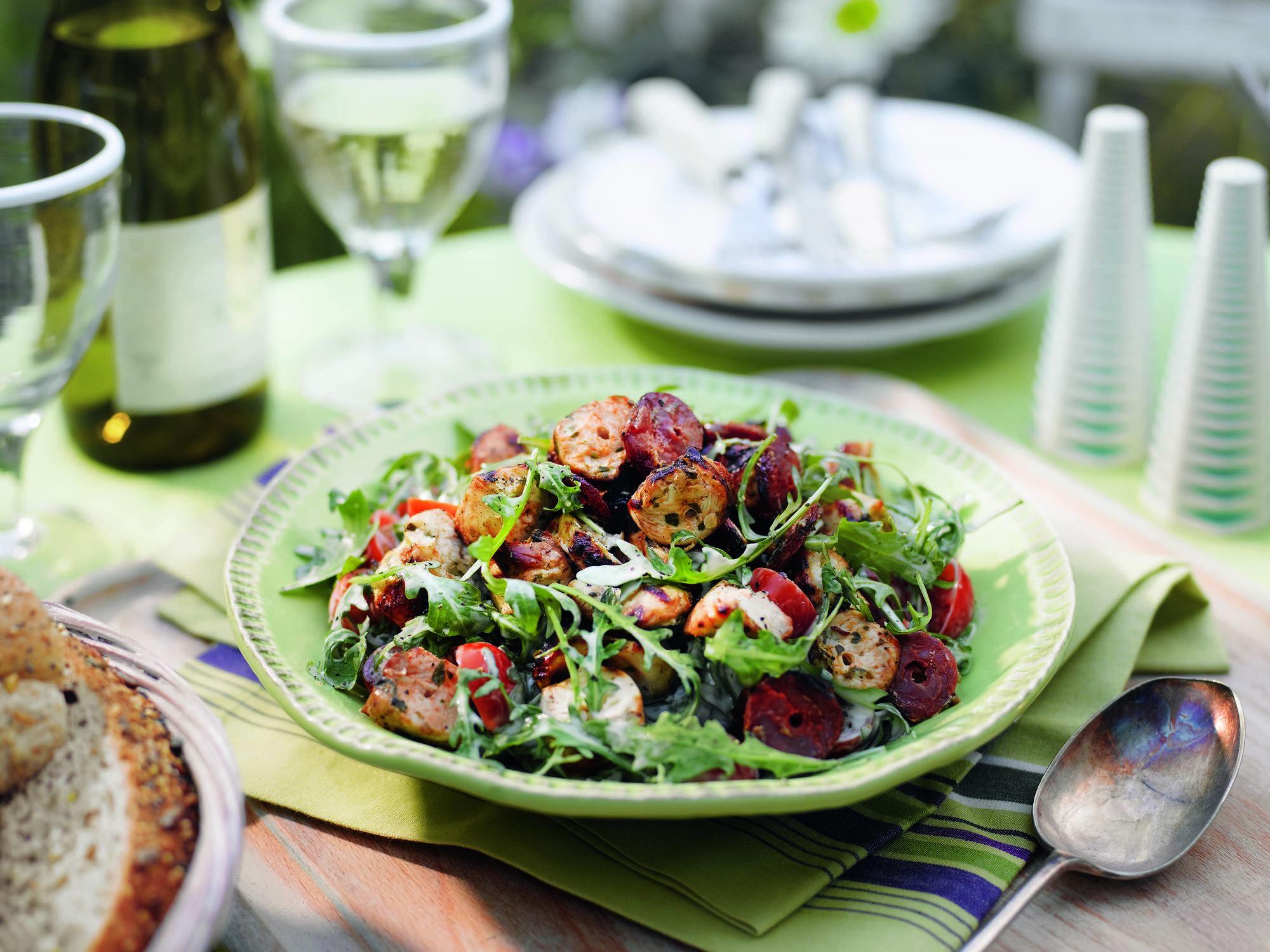 Huhn-Chorizo-Salat