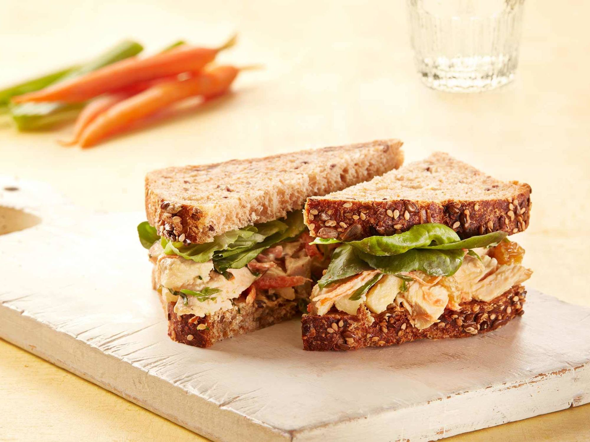 Lemony Chicken & Apple Salad Sandwiches