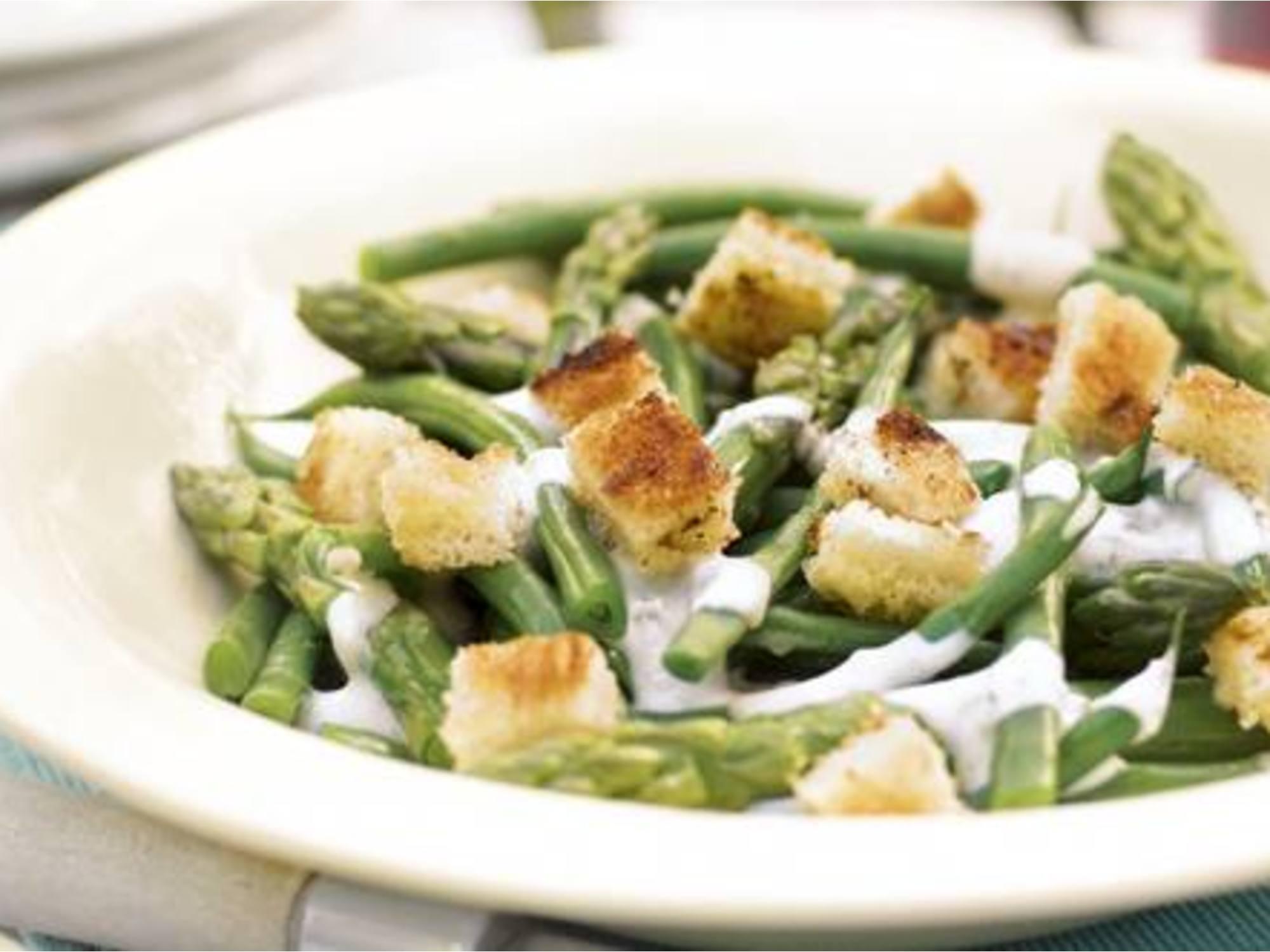 Fisolen-Salat scharf