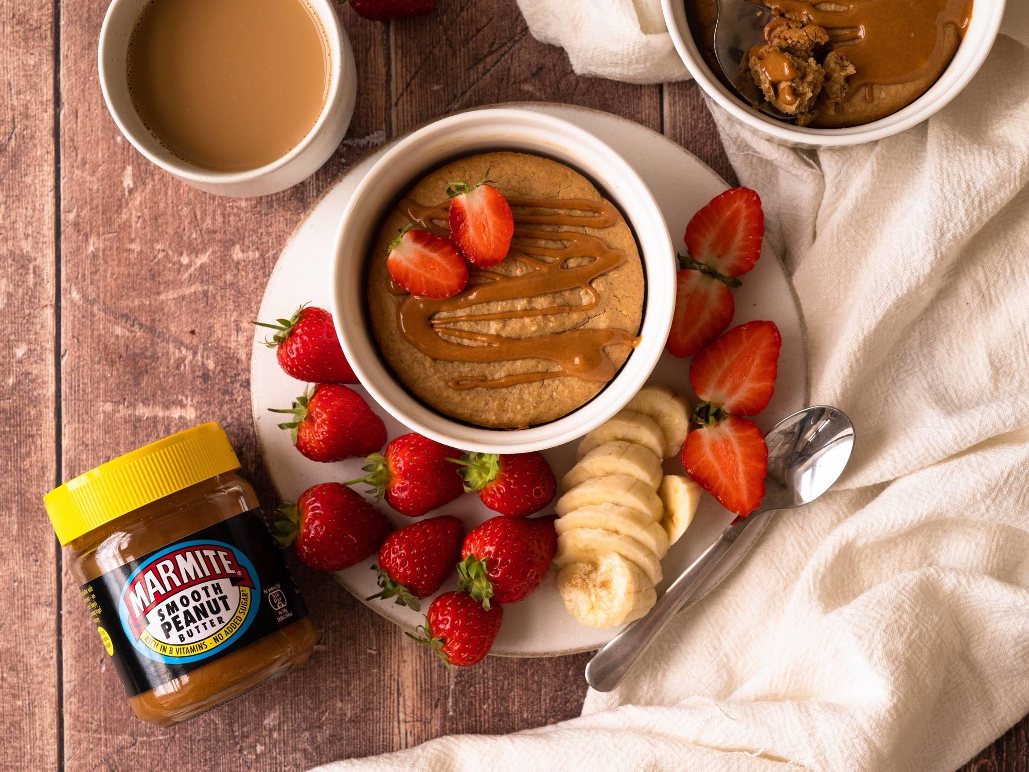 Marmite Peanut Butter Baked Oats
