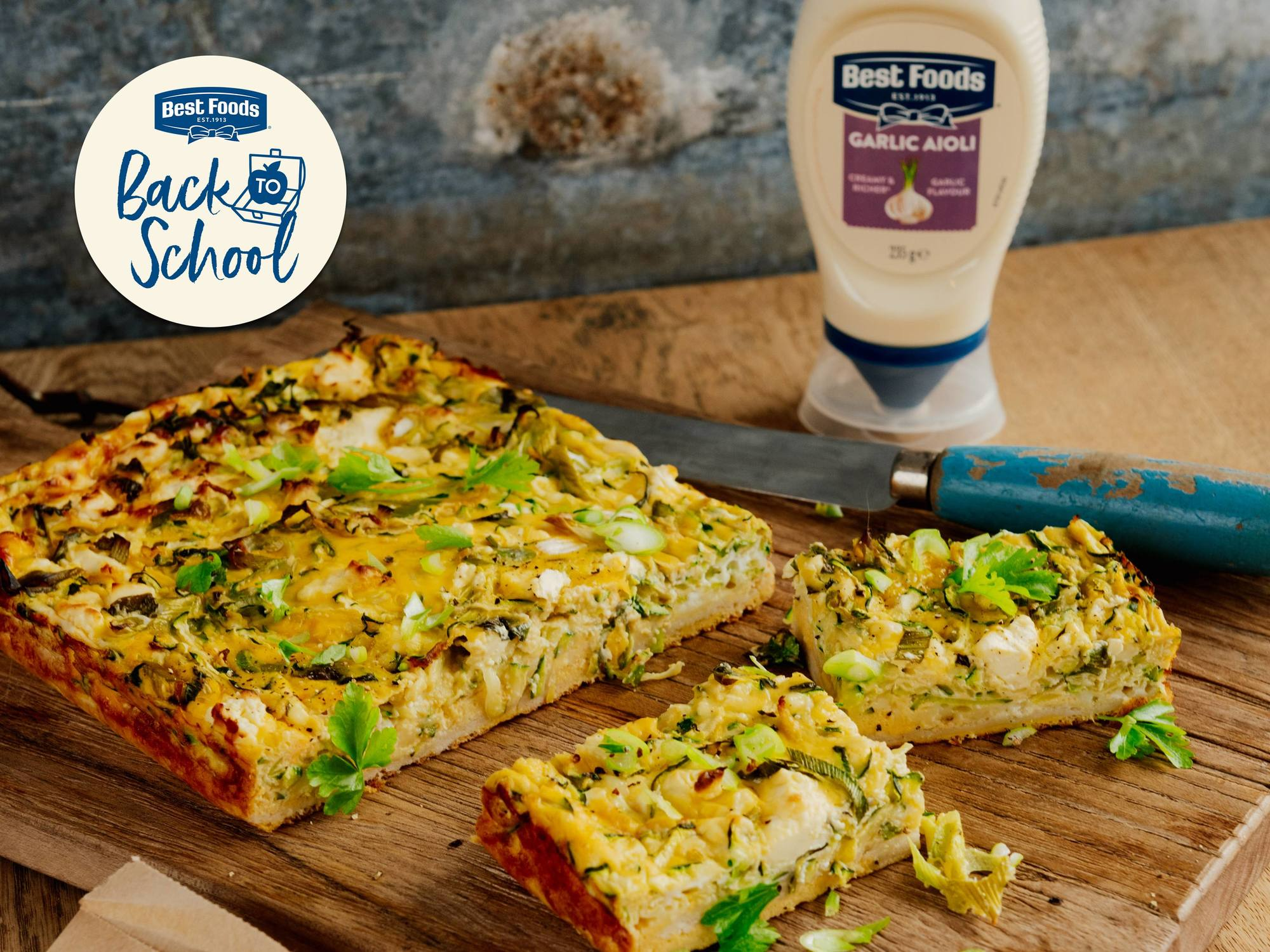 Zucchini, Mint and Feta Quiche | Hellmann's NZ